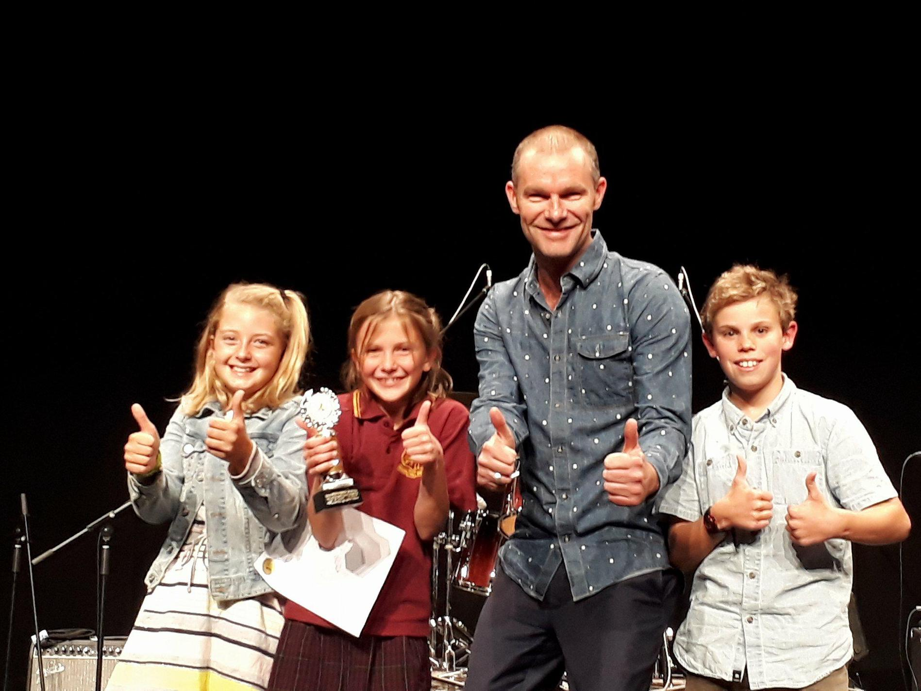 Some of the younger prizewinners at the Taree Eisteddfod