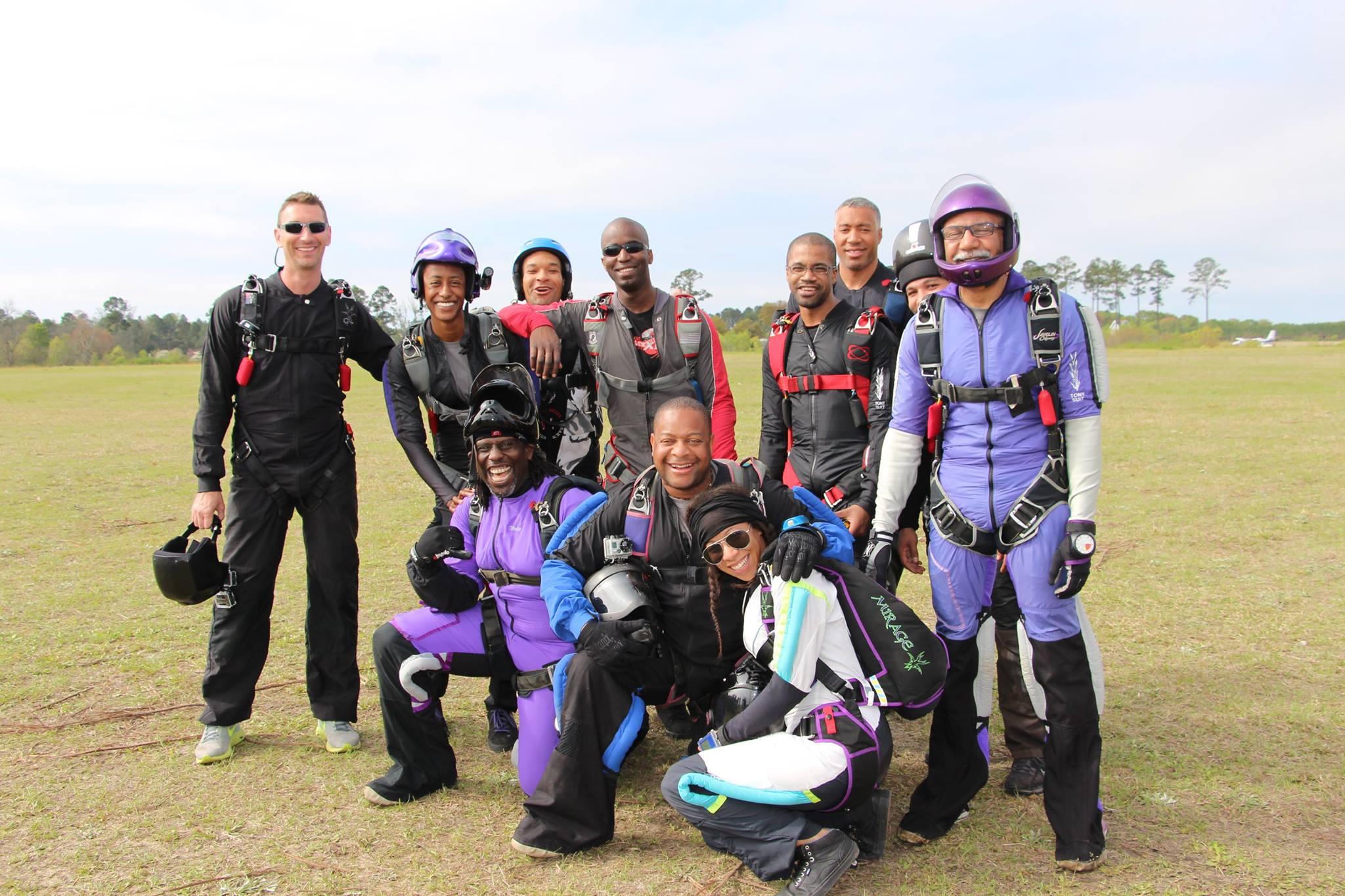 Team Blackstar Skydivers  at a 2015 record jump in Fitzgerald, GA.