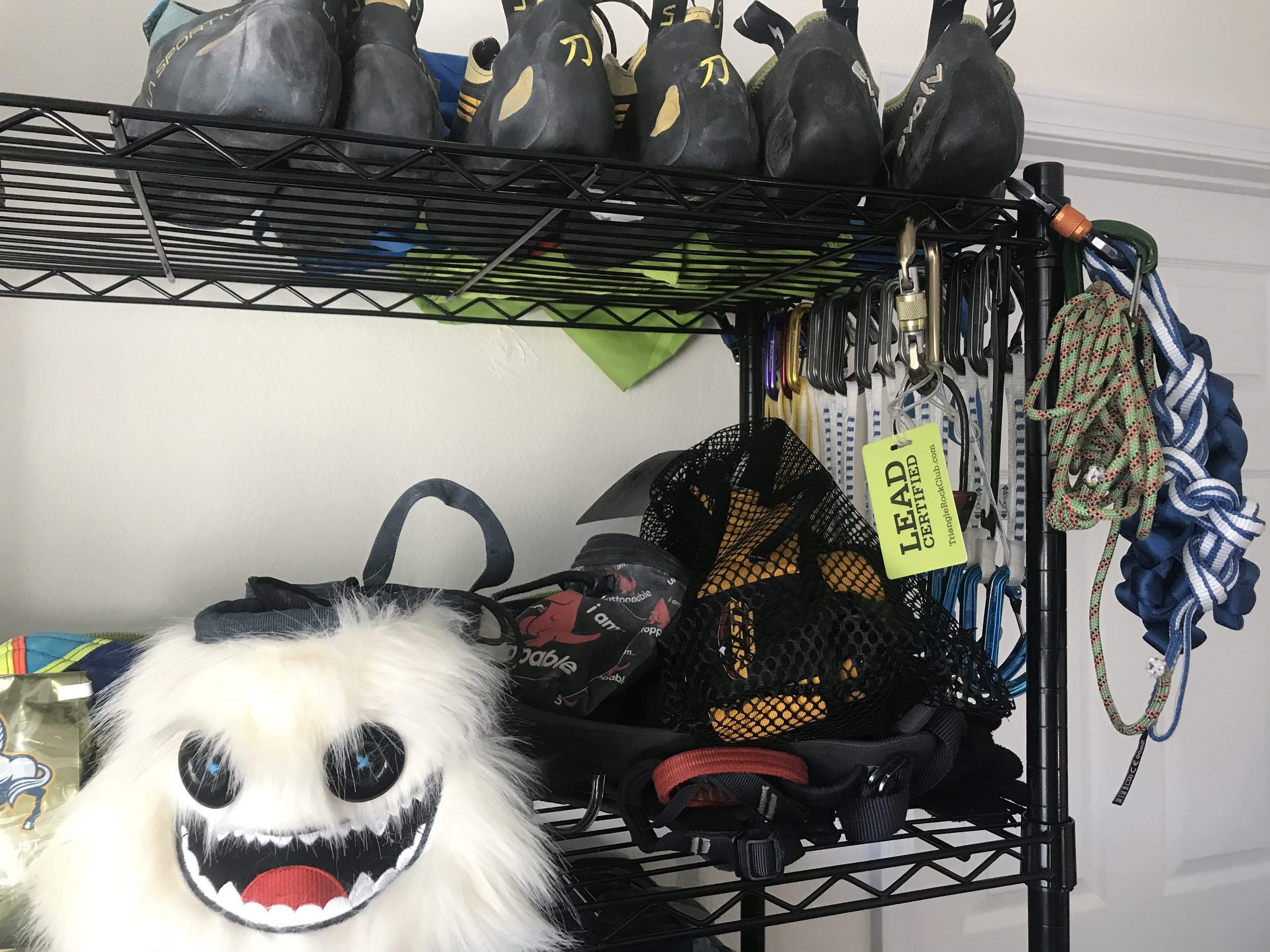 Some of the things on my gear rack...