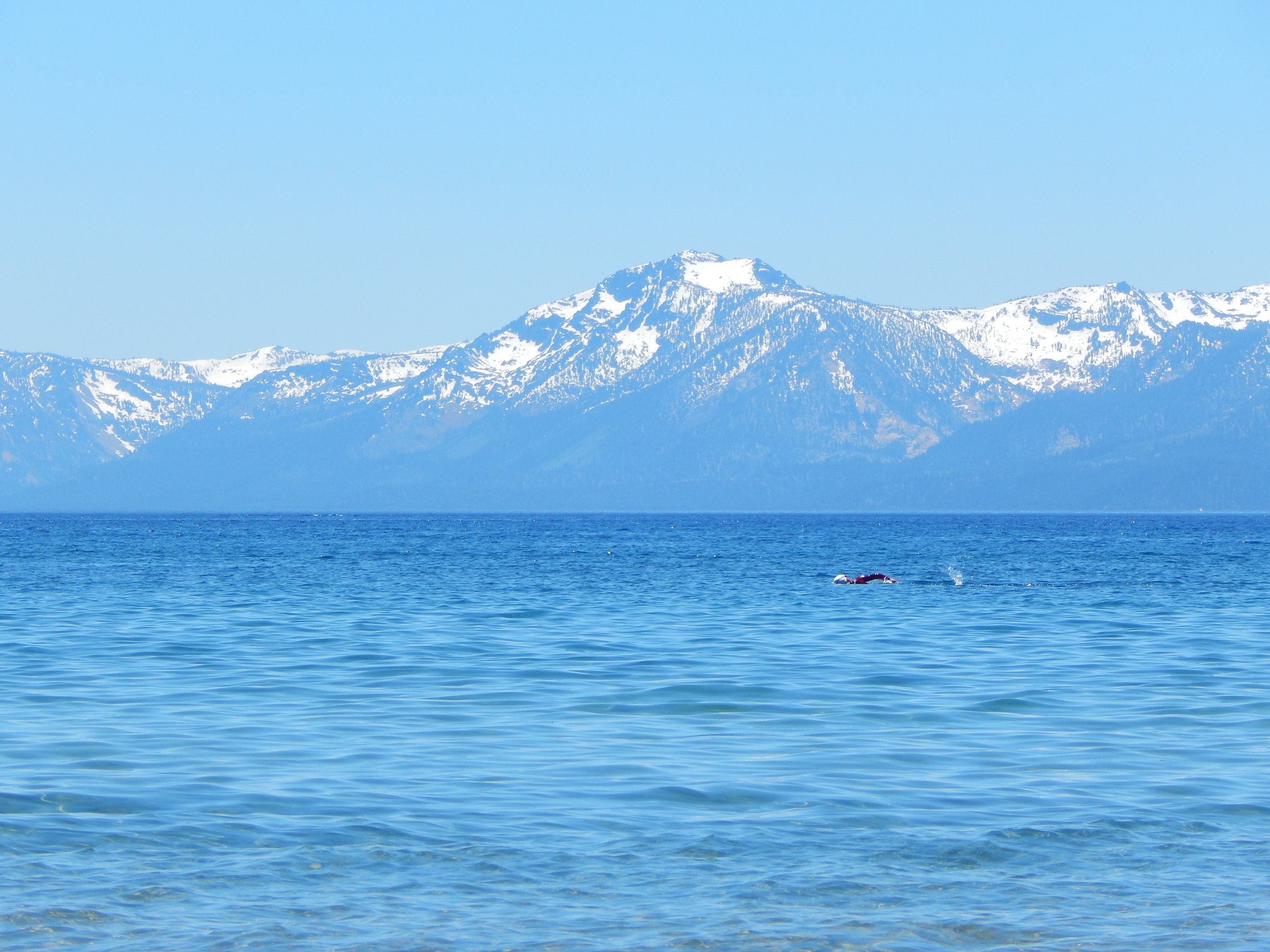 Michael, acclimation training in Lake Tahoe, CA. April 2014.