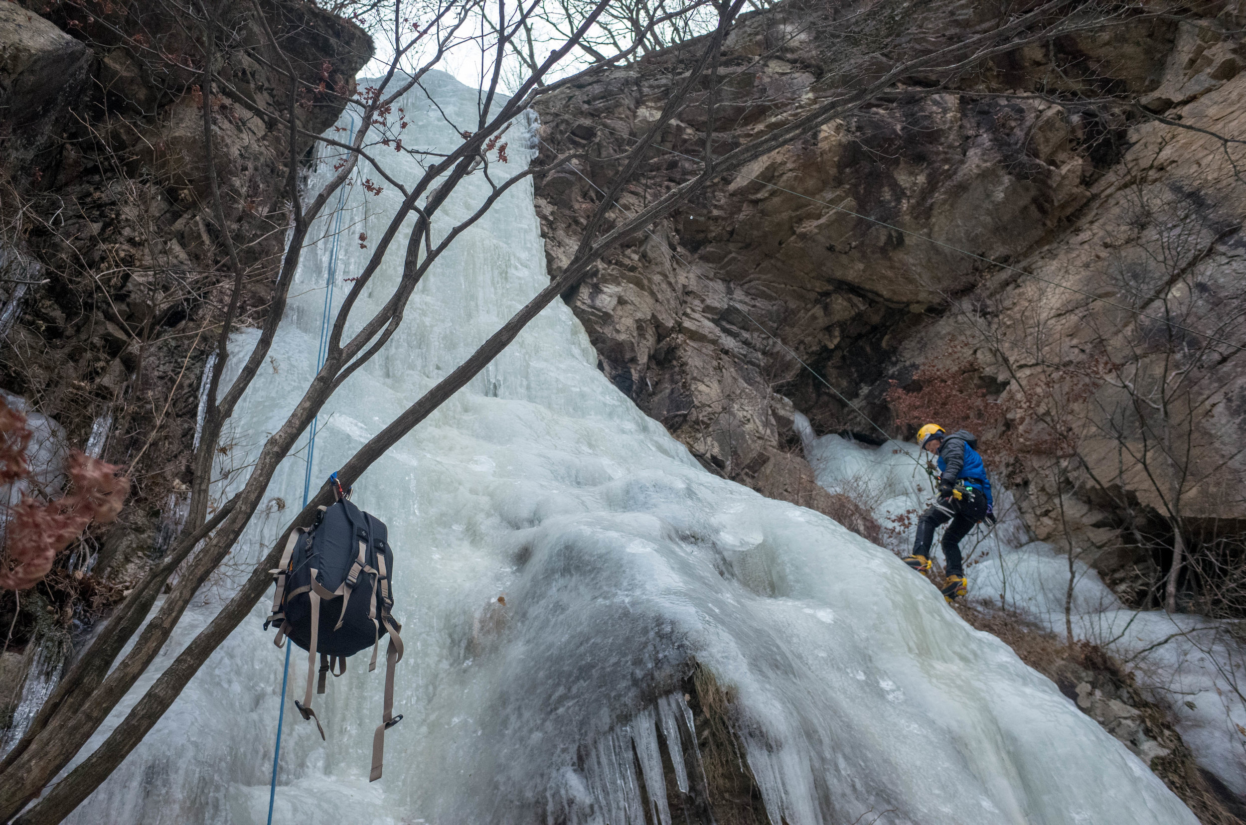 The icefall two weeks after the rescue.