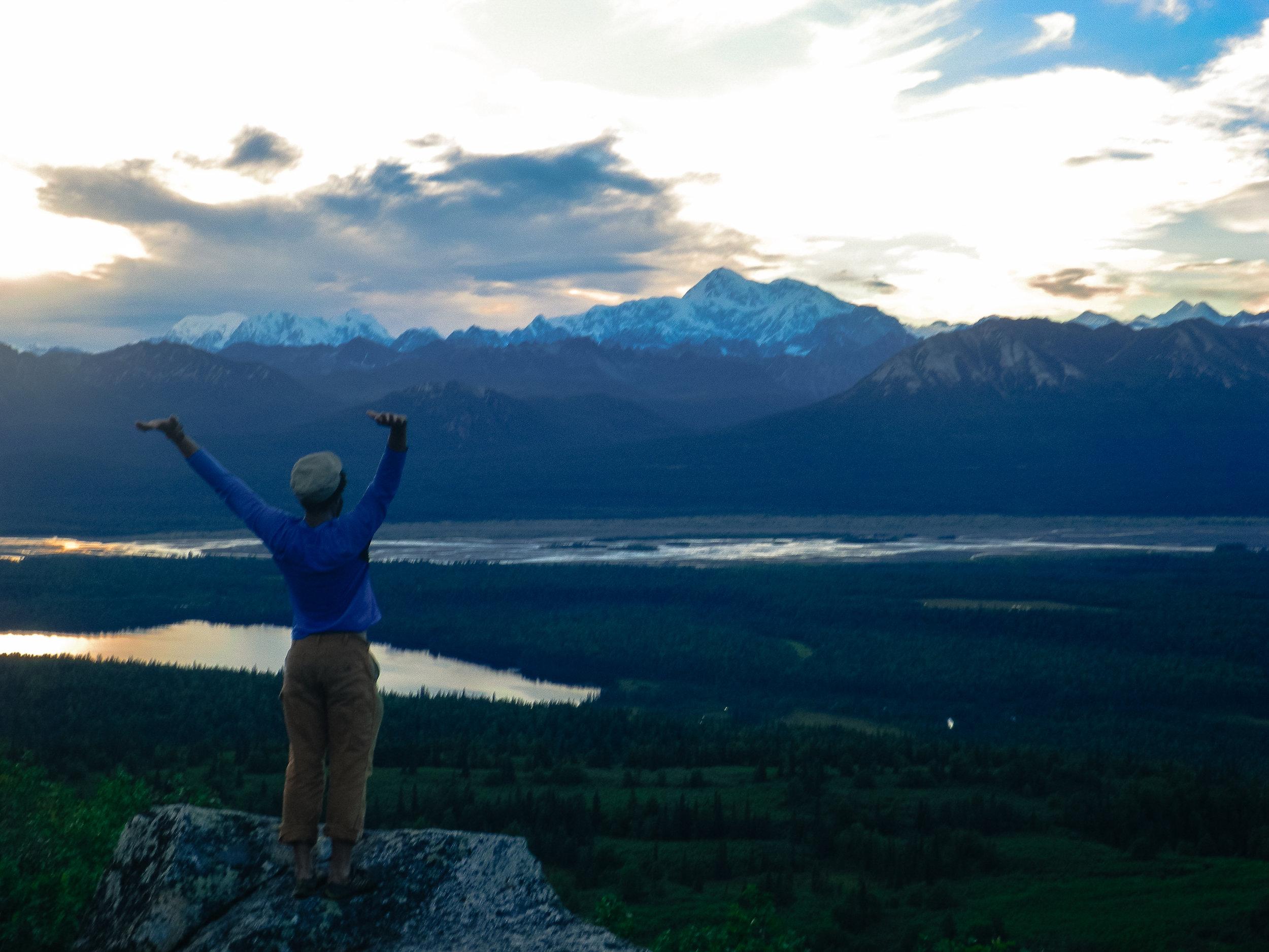 The farthest. The author on Kesugi Ridge (Photo credit:Matt Wild)