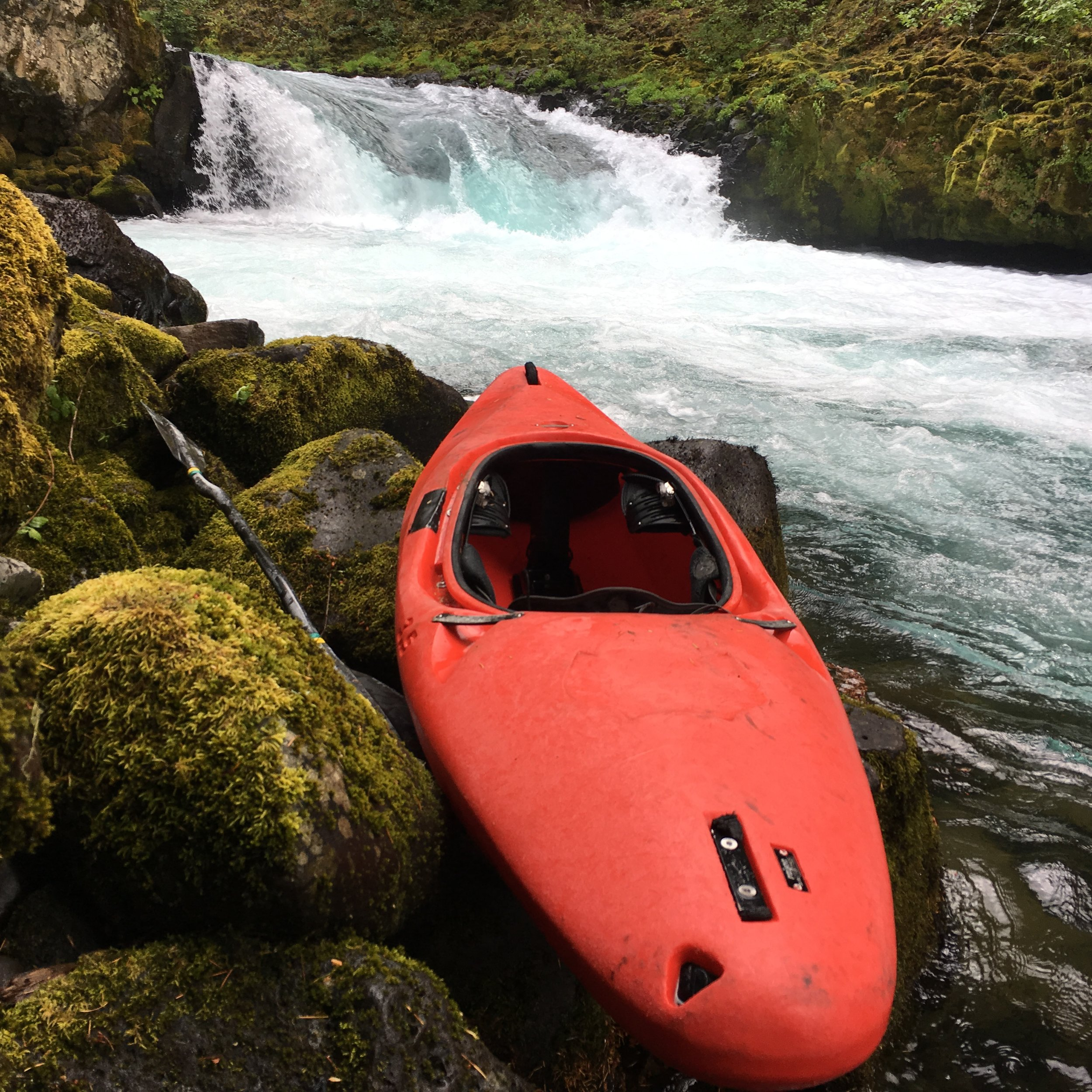 The author's kayak retrieved after 28 days in the cave (Photo courtesy of Adam Edwards).