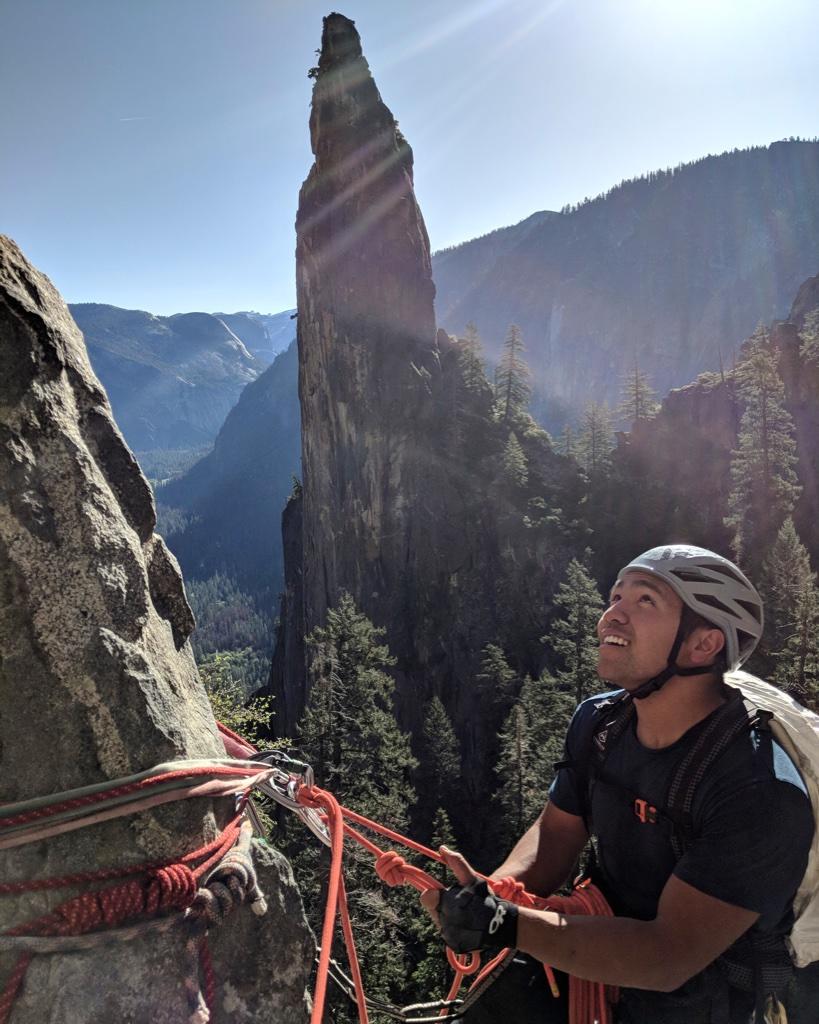 David Rozul on a climbing trip to Yosemite National Park.