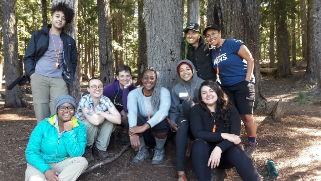 Wild Diversity adventurers on a POC backpacking trip.
