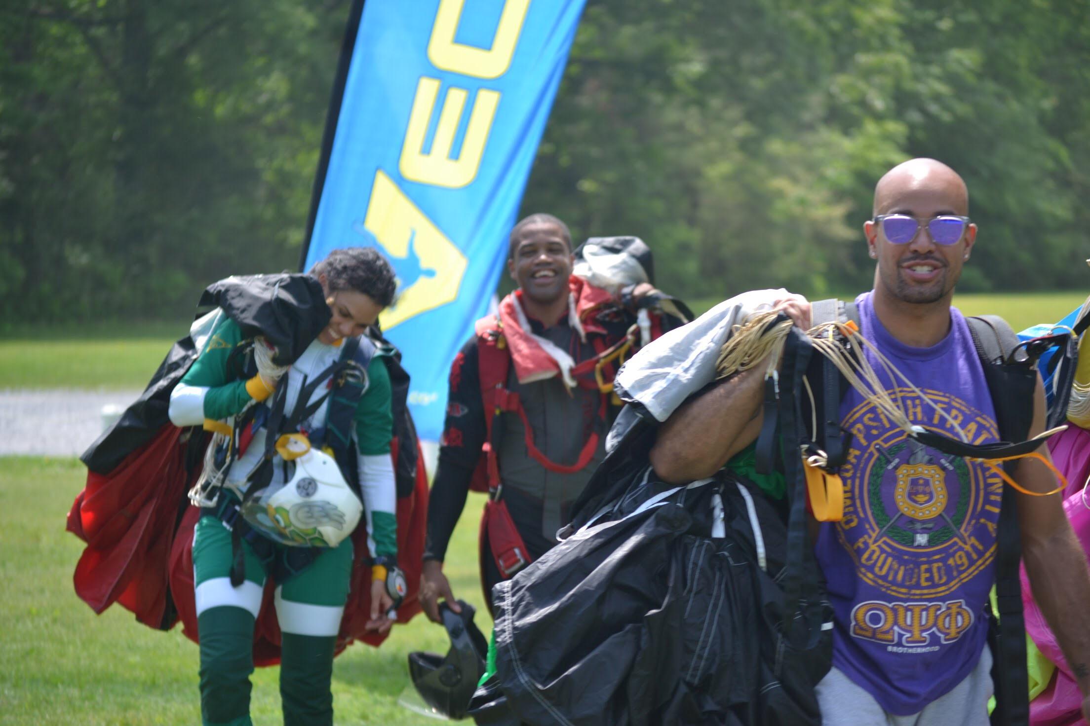 Nicholas (center) at a 2017 Team Blackstar meetup near Atlanta. (Photo credit: Jackie Sylvester)