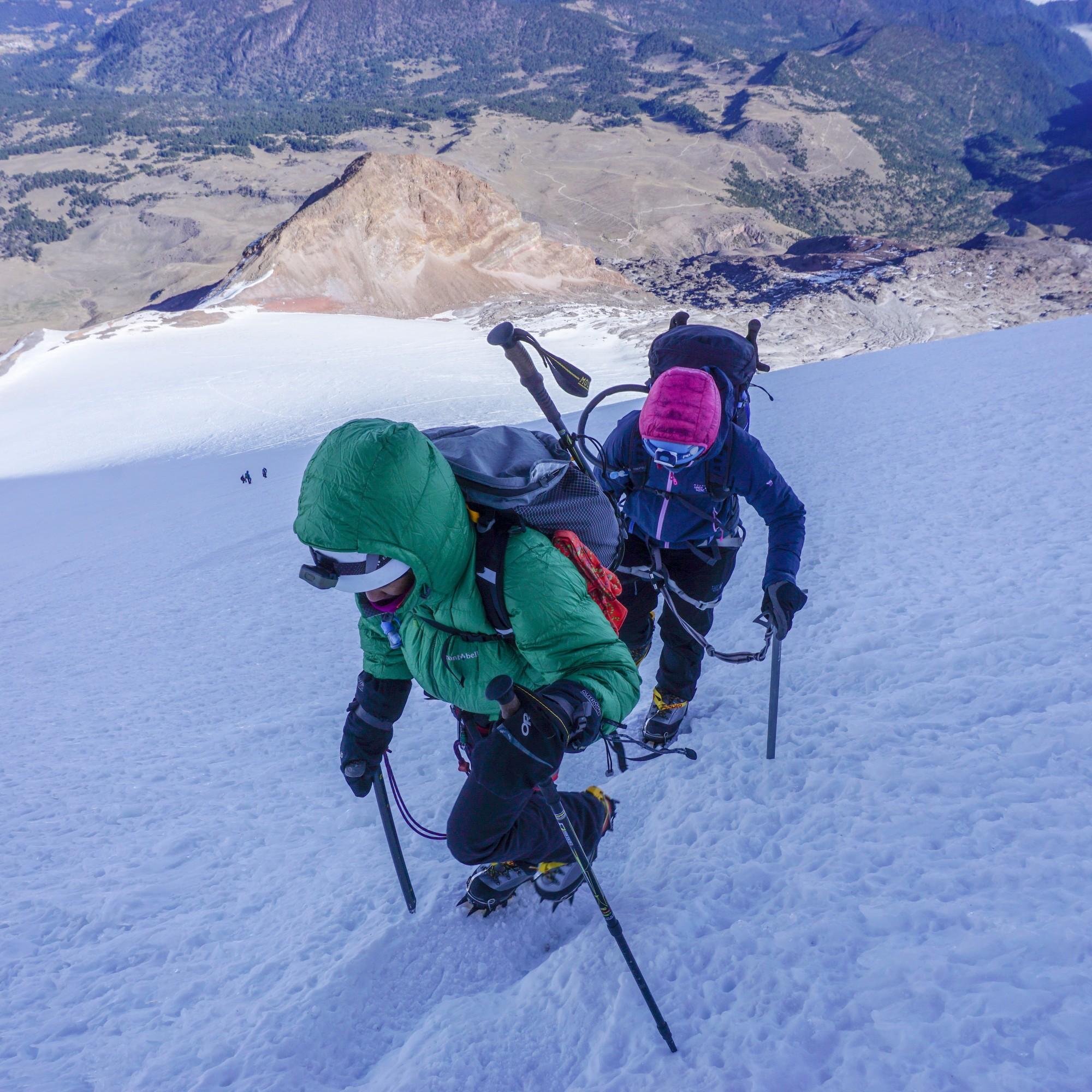Rebecca climbing Pico de Orizaba snowy pic.JPG