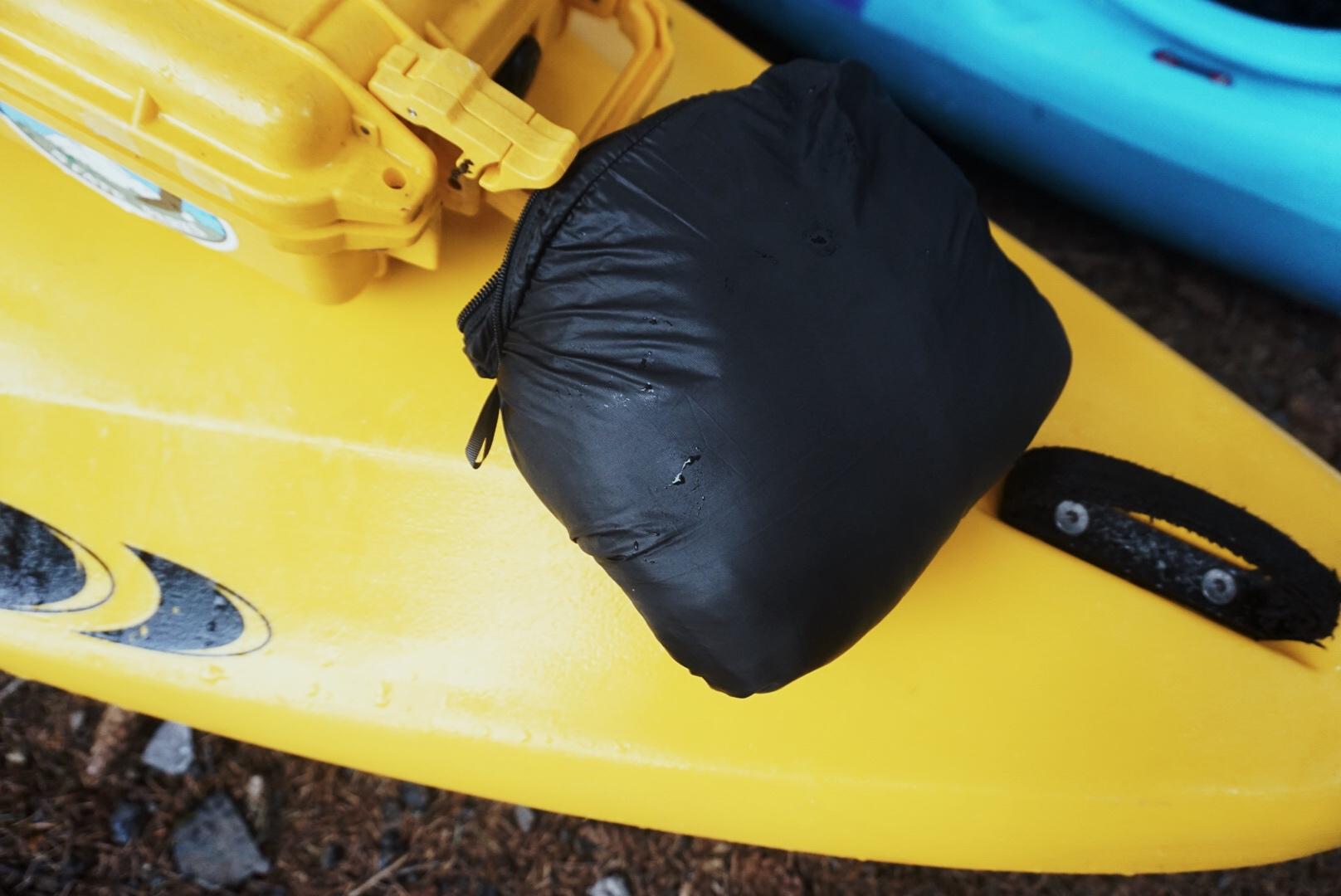 The Patagonia Nano Puff Jacket packs into its pocket.  Photo courtesy of Adam Edwards