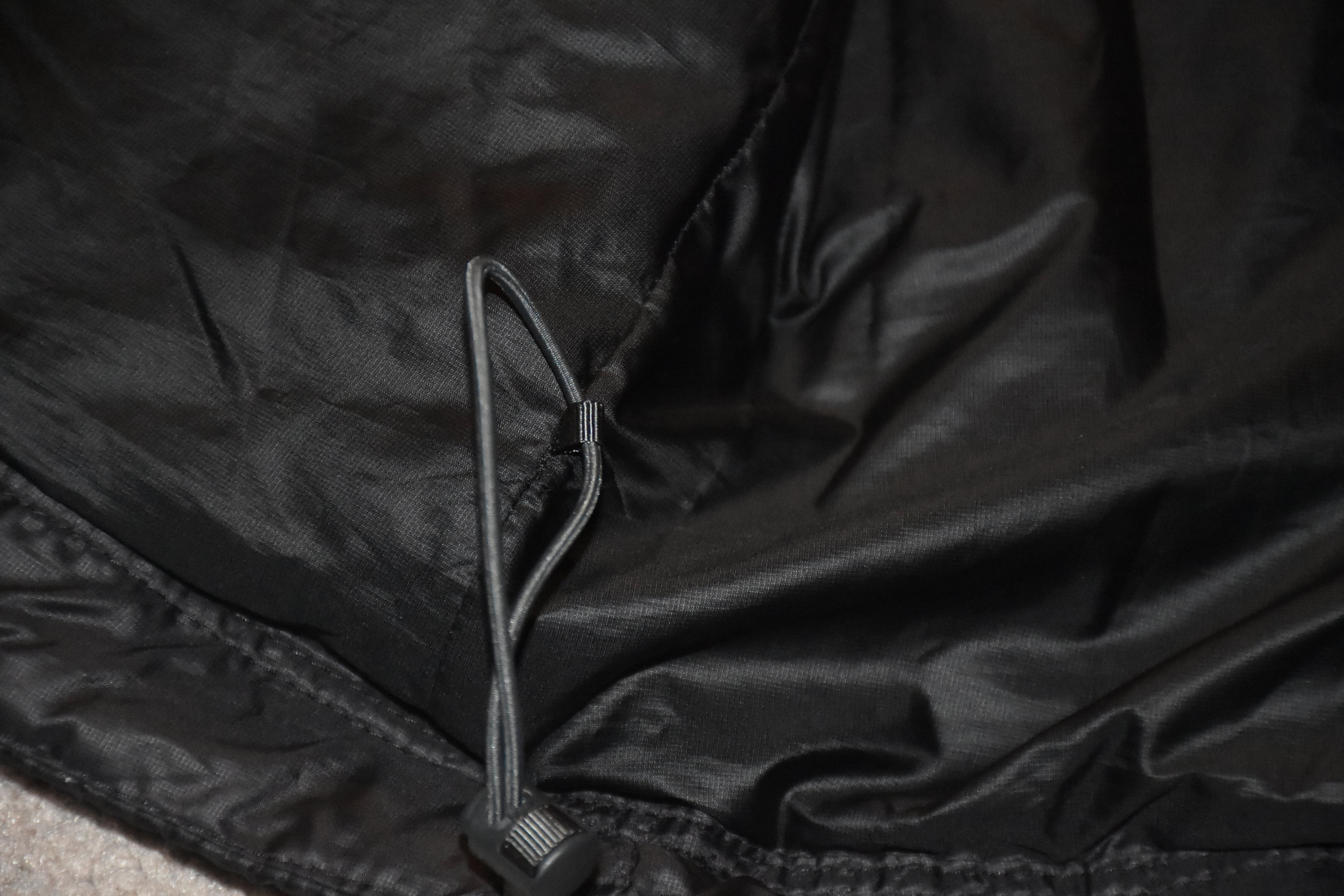 Image of the drawcord hem.  Photo courtesy of Rebecca Ross