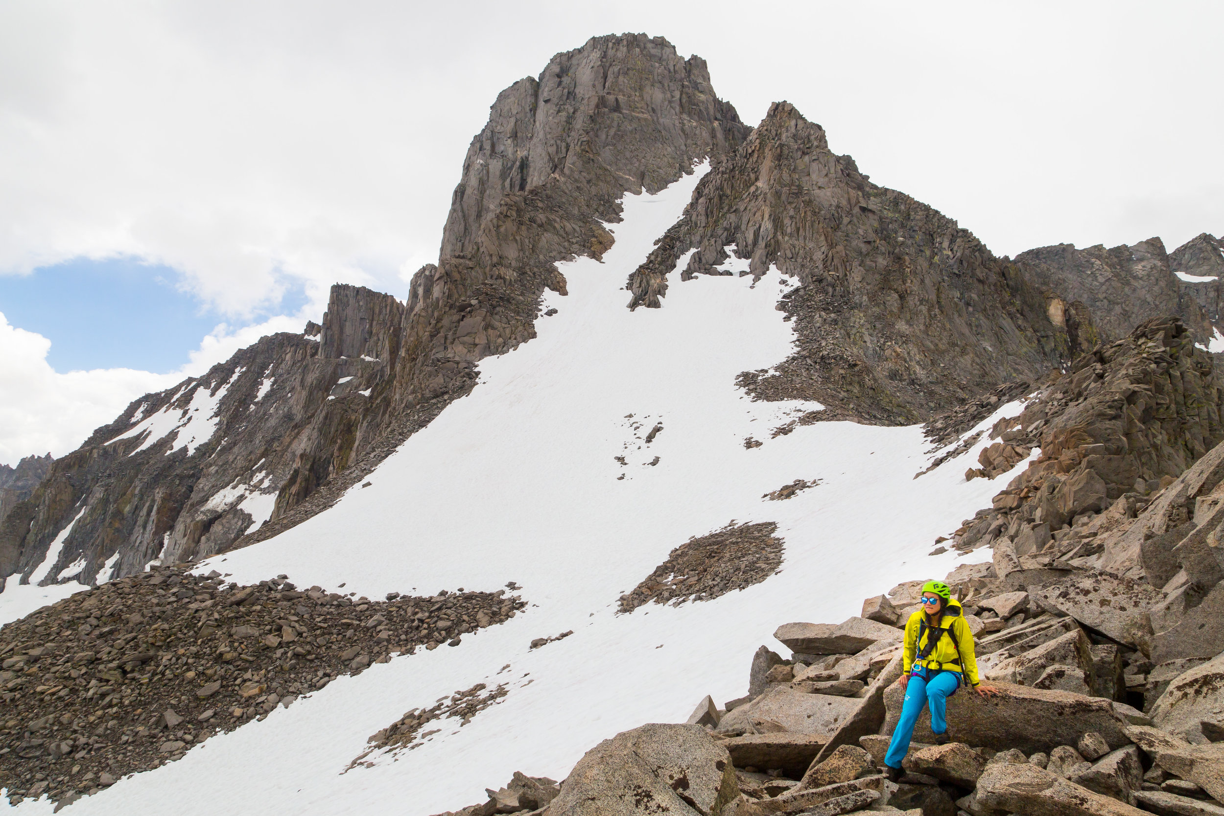 Seriously questioning my life decisions on the way home from Mt. Sill (14,159').  Photo credit:    Derek Tse   .