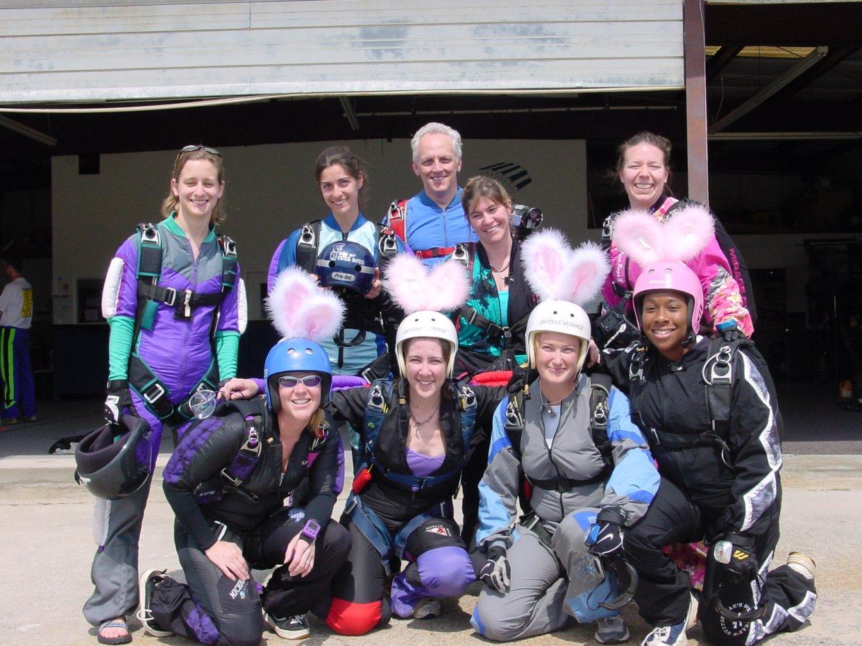 The women of Skydive Monroe circa 2004.  Photo courtesy: Sharon Calhoun