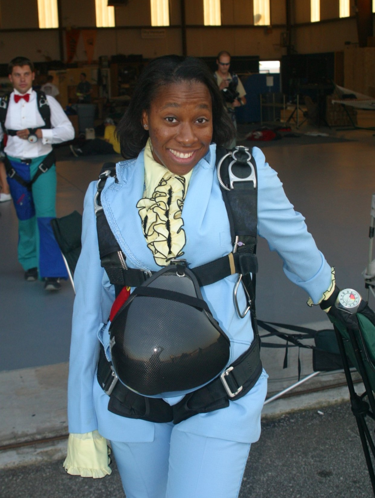 24-year-old Sharon poses for a photo during a Casino Jump at Skydive Atlanta in 2003.  Photo courtesy: Sharon Calhoun