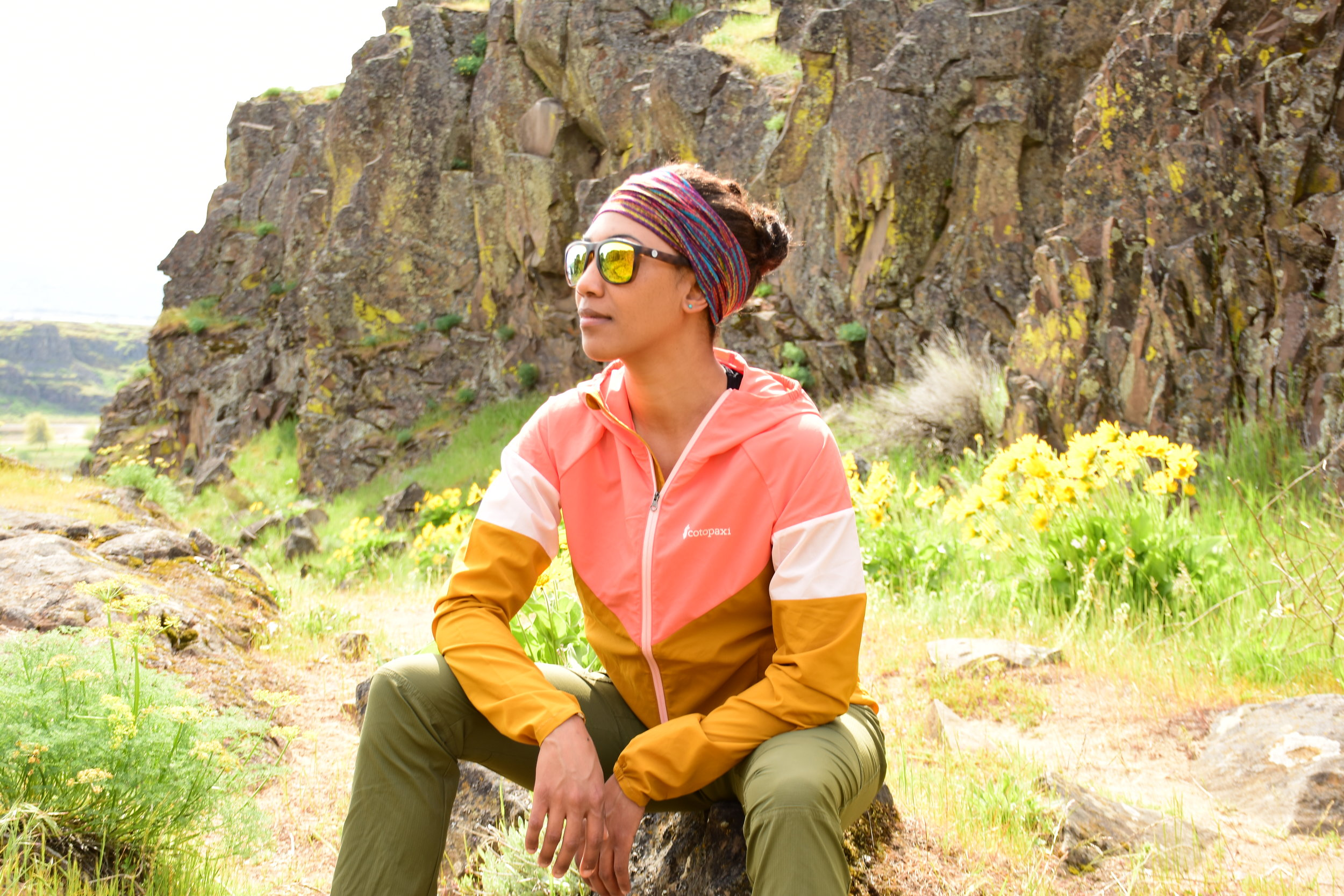 Frontal view of the Cotopaxi Palmas jacket, Horsetheif Butte, Oregon. Photo courtesy of Nathan Kaul