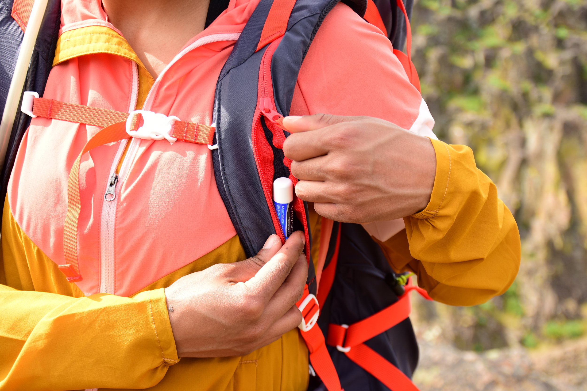 The vertical pocket on the shoulder strap made it incredibly convenient to store and access small items like lip balm or car keys.  Photo courtesy of Nathan Kaul