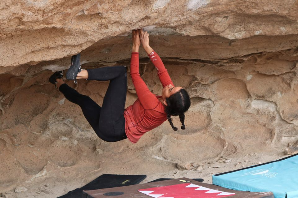 Bethany Lebewitz is the founder of Brown Girls Climb, a company that provides valuable representation for BIPOC womxn and non-binary climbers.  Photo courtesy of Gisella Rodriguez