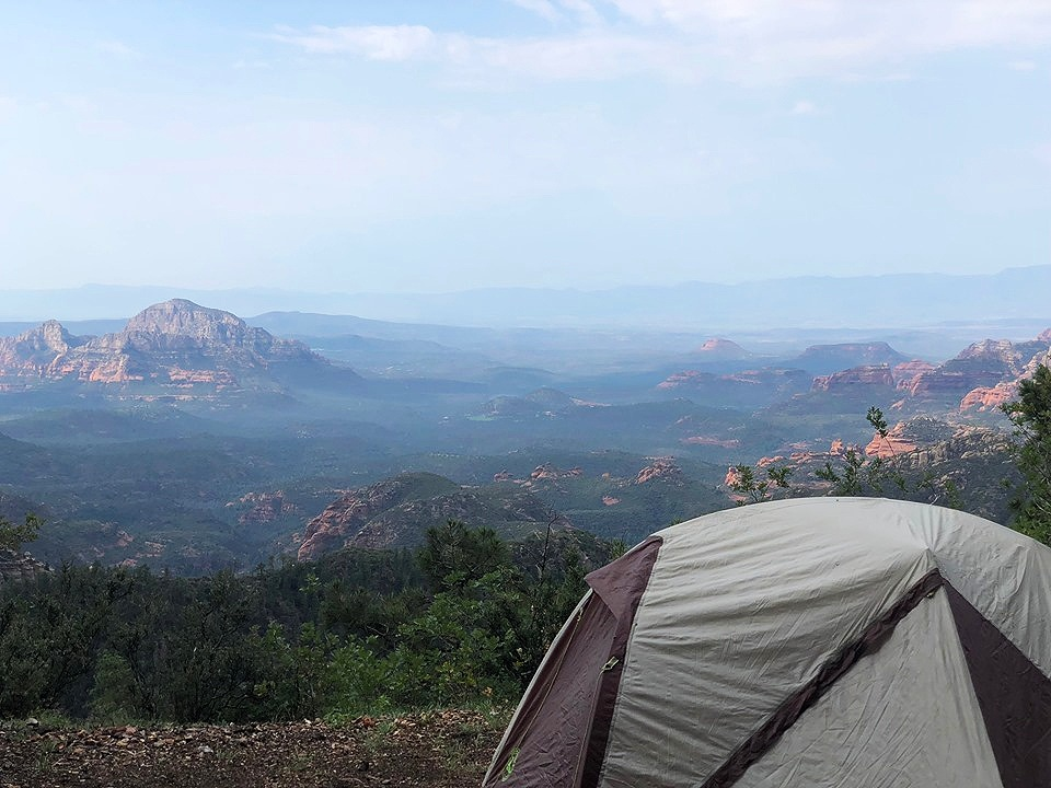 Campsite outside of Flagstaff, AZ.