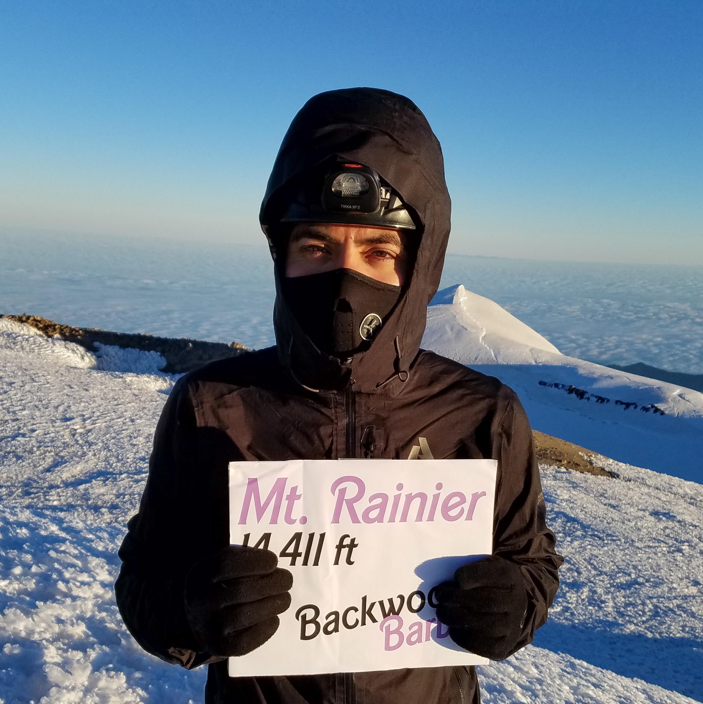 Bam Mendiola on Tahoma (Mt. Rainier)