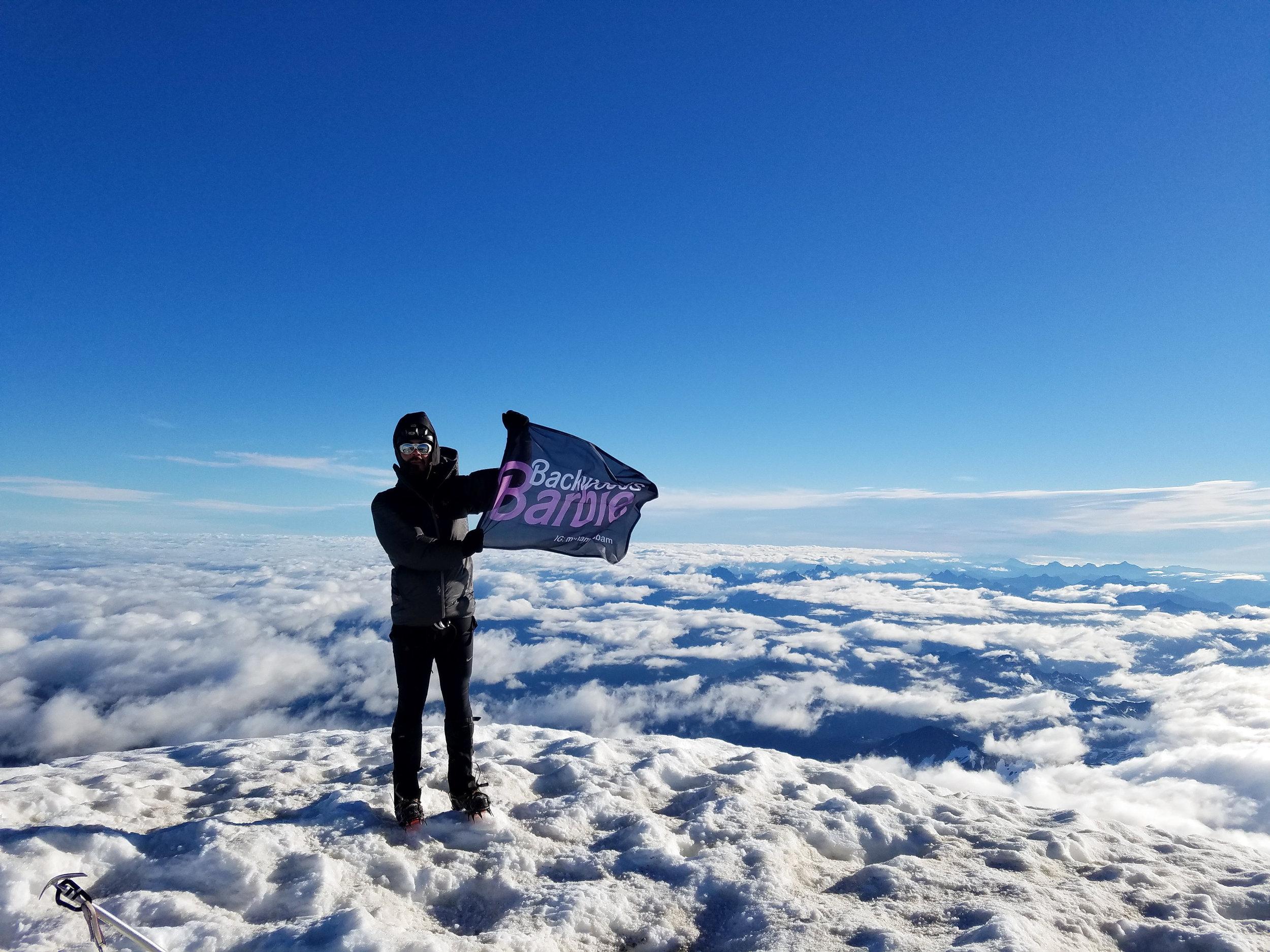 Bam Mendiola on Koma Kulshan (Mt. Baker)
