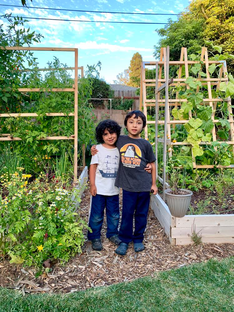 The author and her family honor their combined Persian, Filipinx, Western European and North African roots through growing their own food and preparing traditional meals.  Photo courtesy of Janelle Hill
