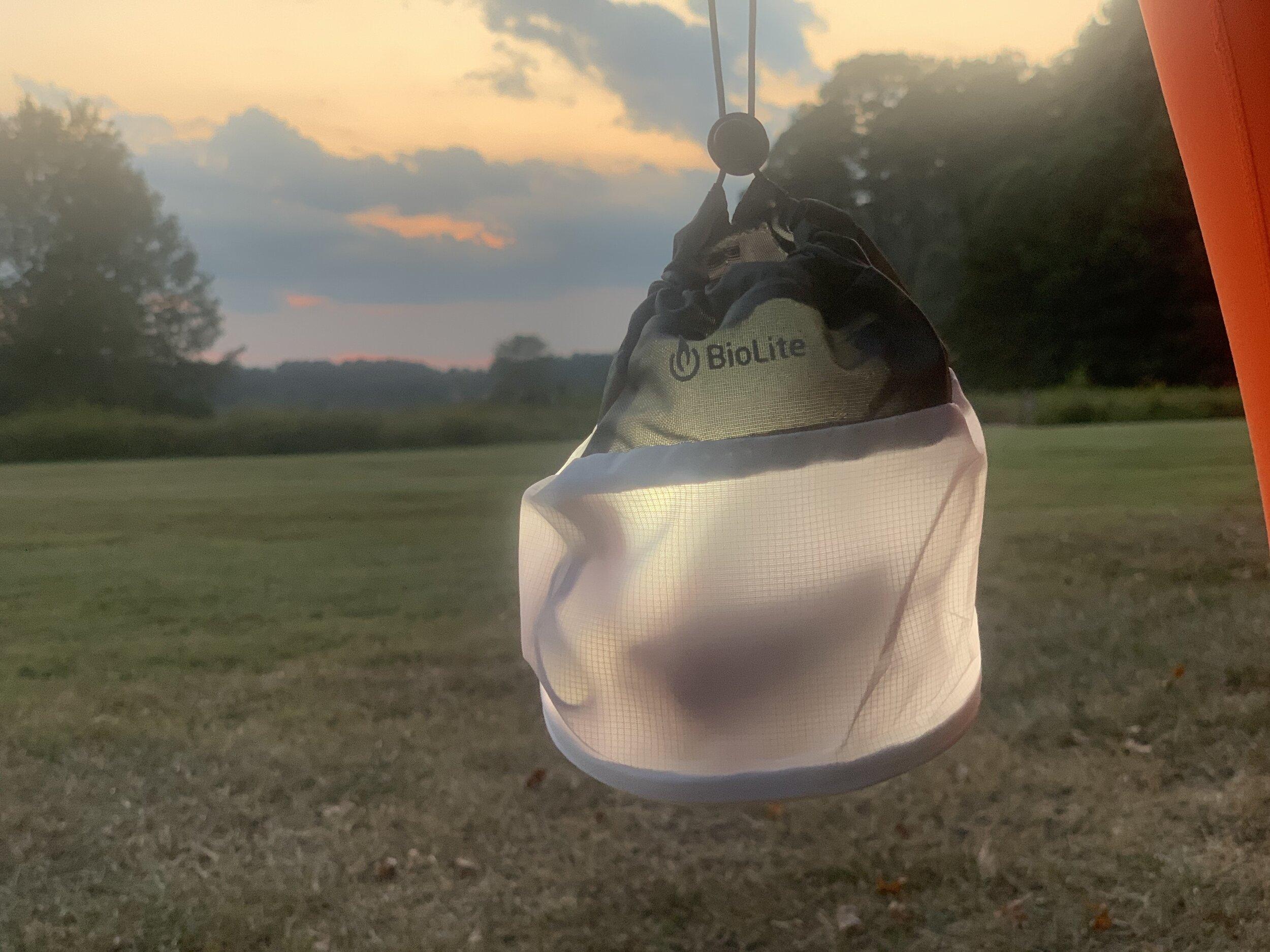 BioLite Headlamp 330 inside the light diffusing stuff sack