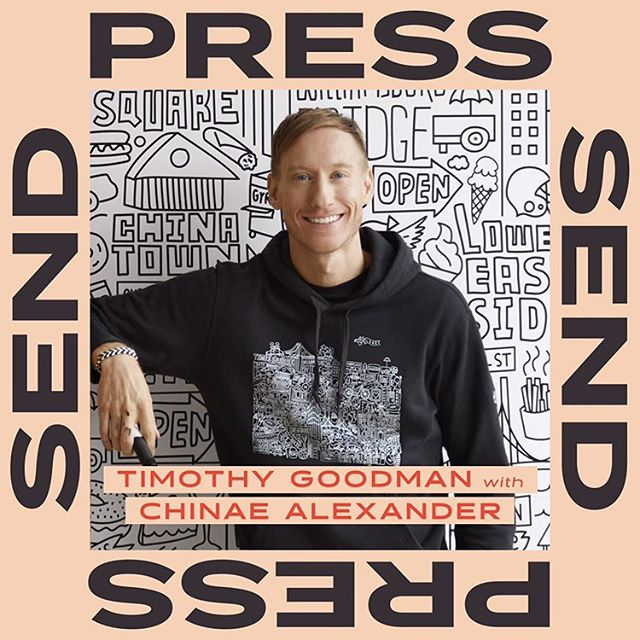 Feels pretty surreal that @timothygoodman, one of my all time favorite designers, was on @presssendpodcast this week 🖤