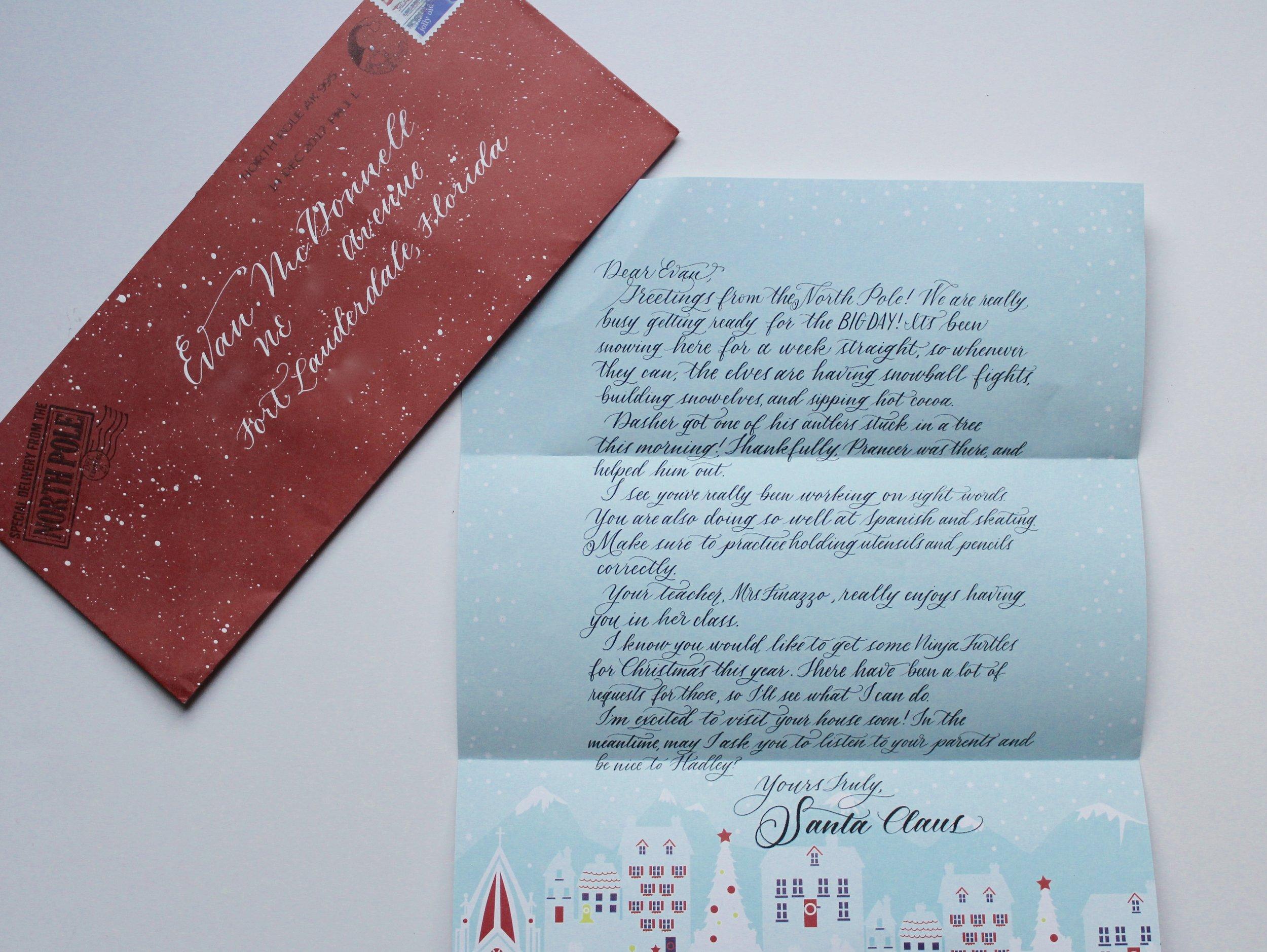 Evan's letter.