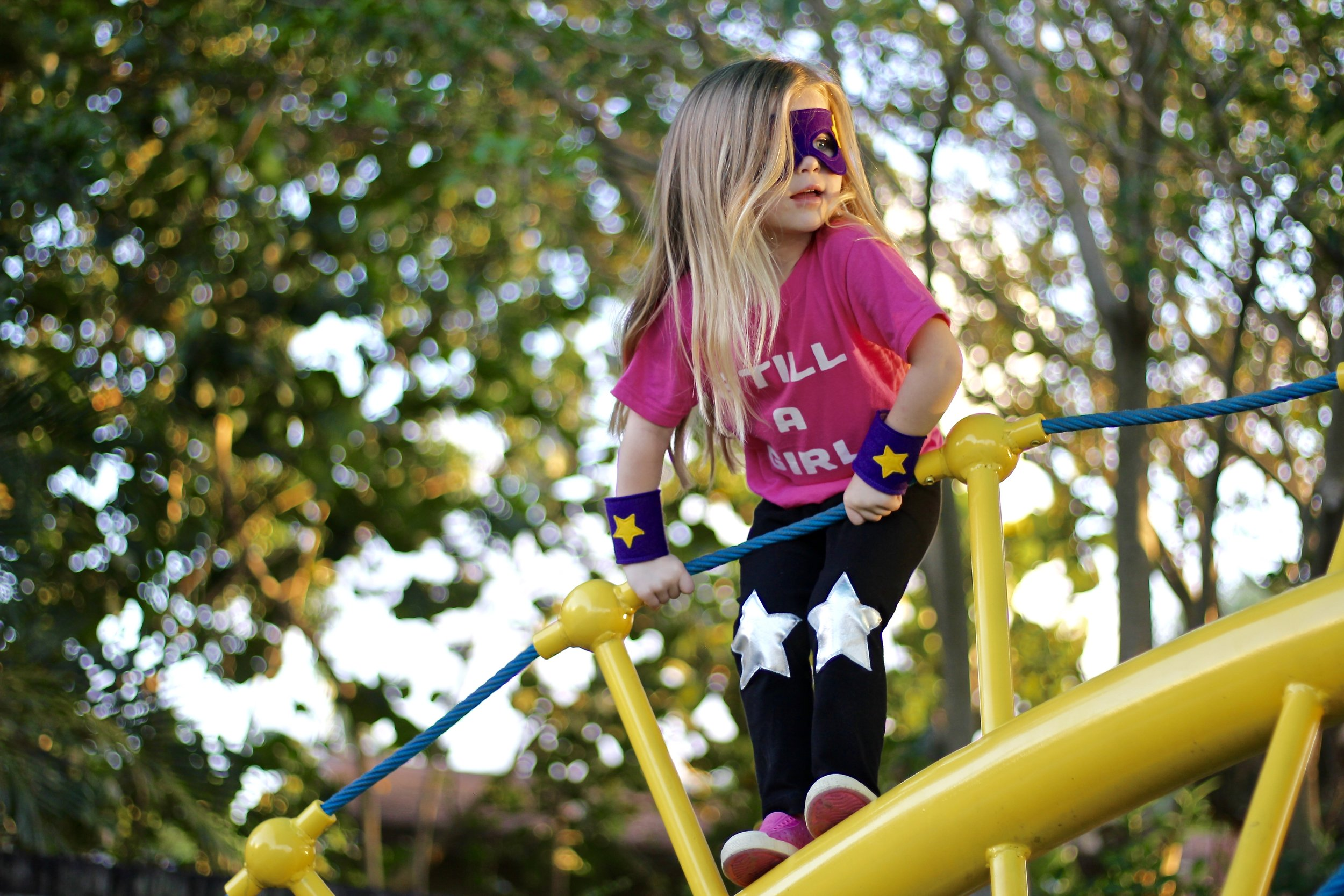 Leggings  c/o  The Trendy Tot .  Super Hero Set  c/o  A is for Alice .  Shirt  c/o  Quirkie Kids