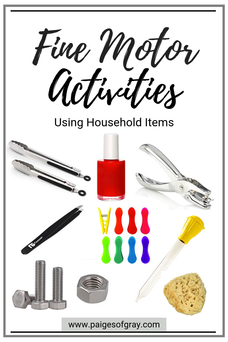 Fine motor activities using household items