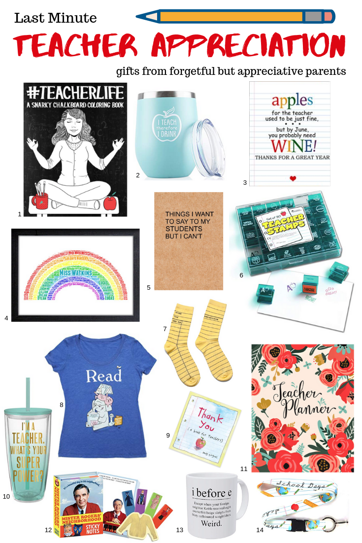 Gift ideas for Teacher Appreciation Week . This post may contain affiliate links. Please see my full  disclosure policy  for details.