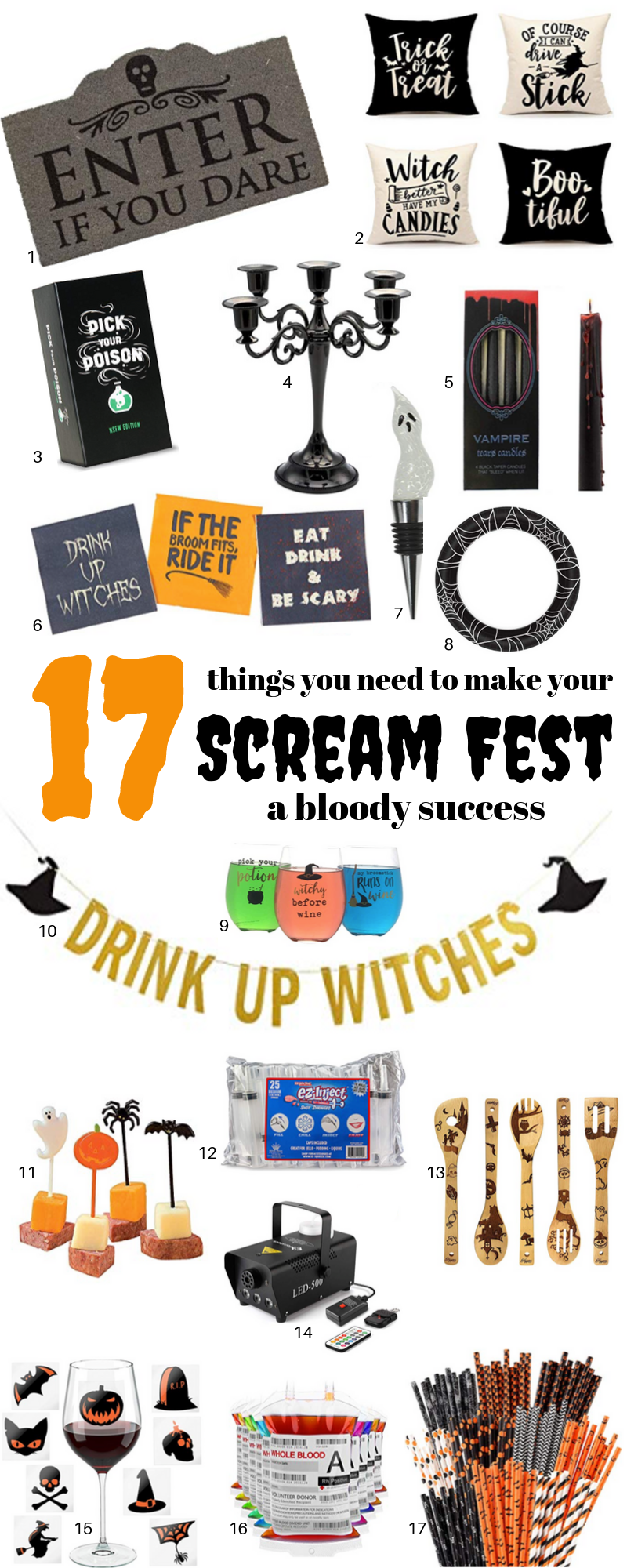 17 Halloween party essentials to ensure it's a bloody success.  This post may contain affiliate links. Please see my full  disclosure policy  for details.