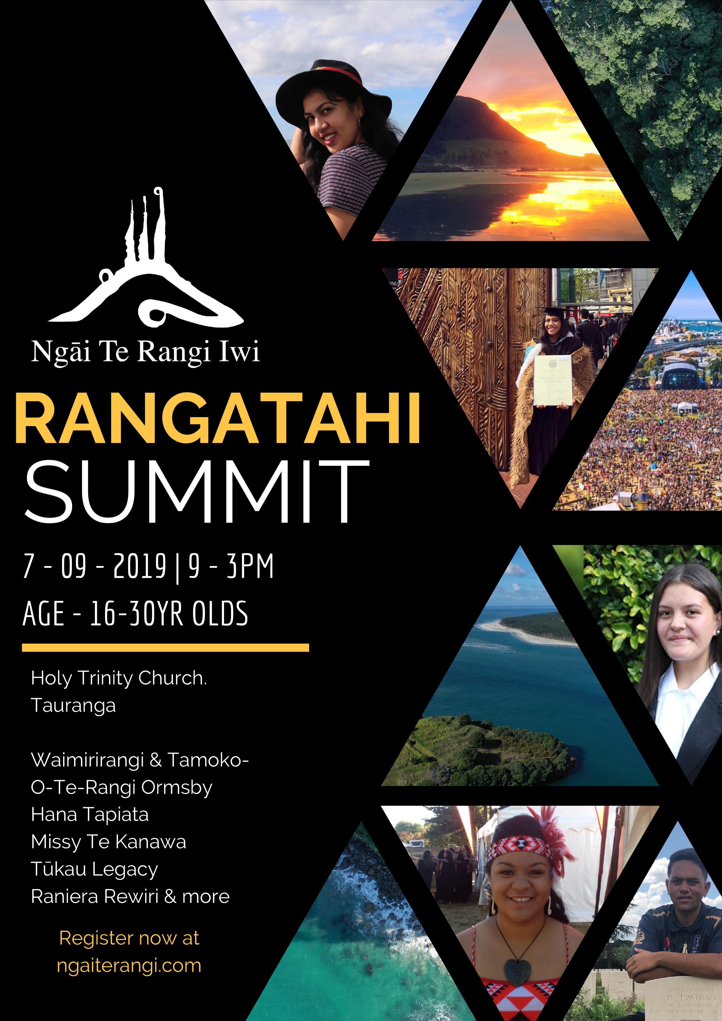 Ngai Te Rangi Rangatahi Summit 2019 Flyer.png