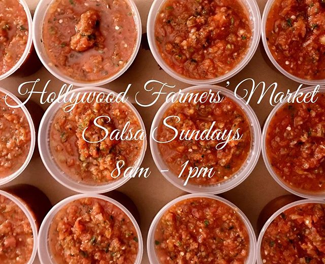 Salsa Sunday @hfm  8 AM-1 PM. And pick up 4-pack of @kerneloftruthorganics yellow corn tortillas for free today. #local #organicskincare #tortilla #salsa #salsafresca #hollywood