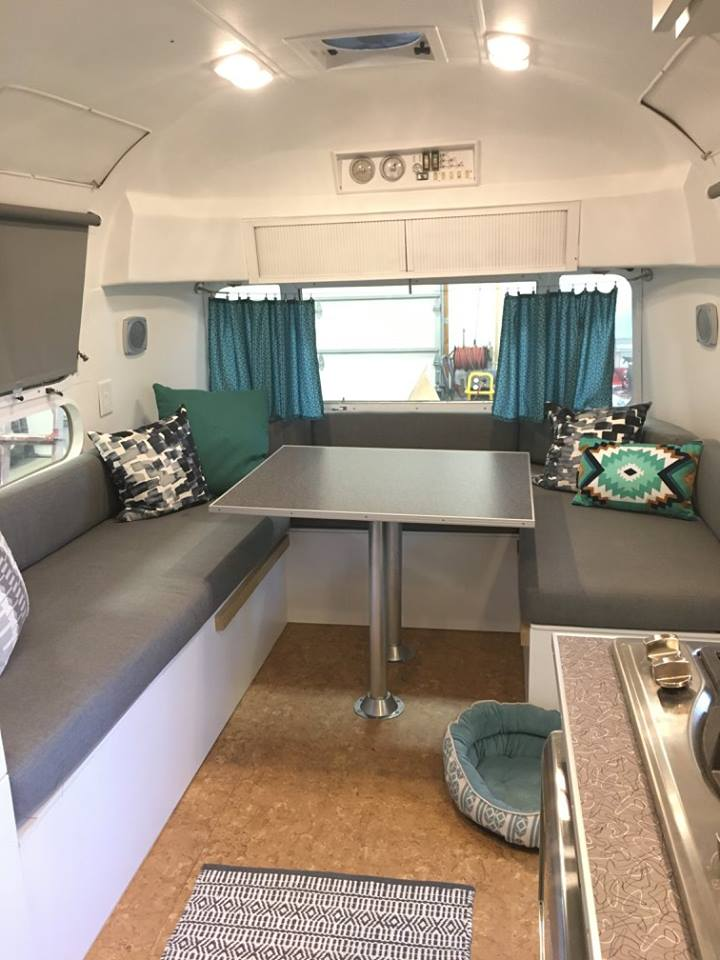The furniture Bases were all built with hinged storage underneath. And, the dinette converts to a bed.