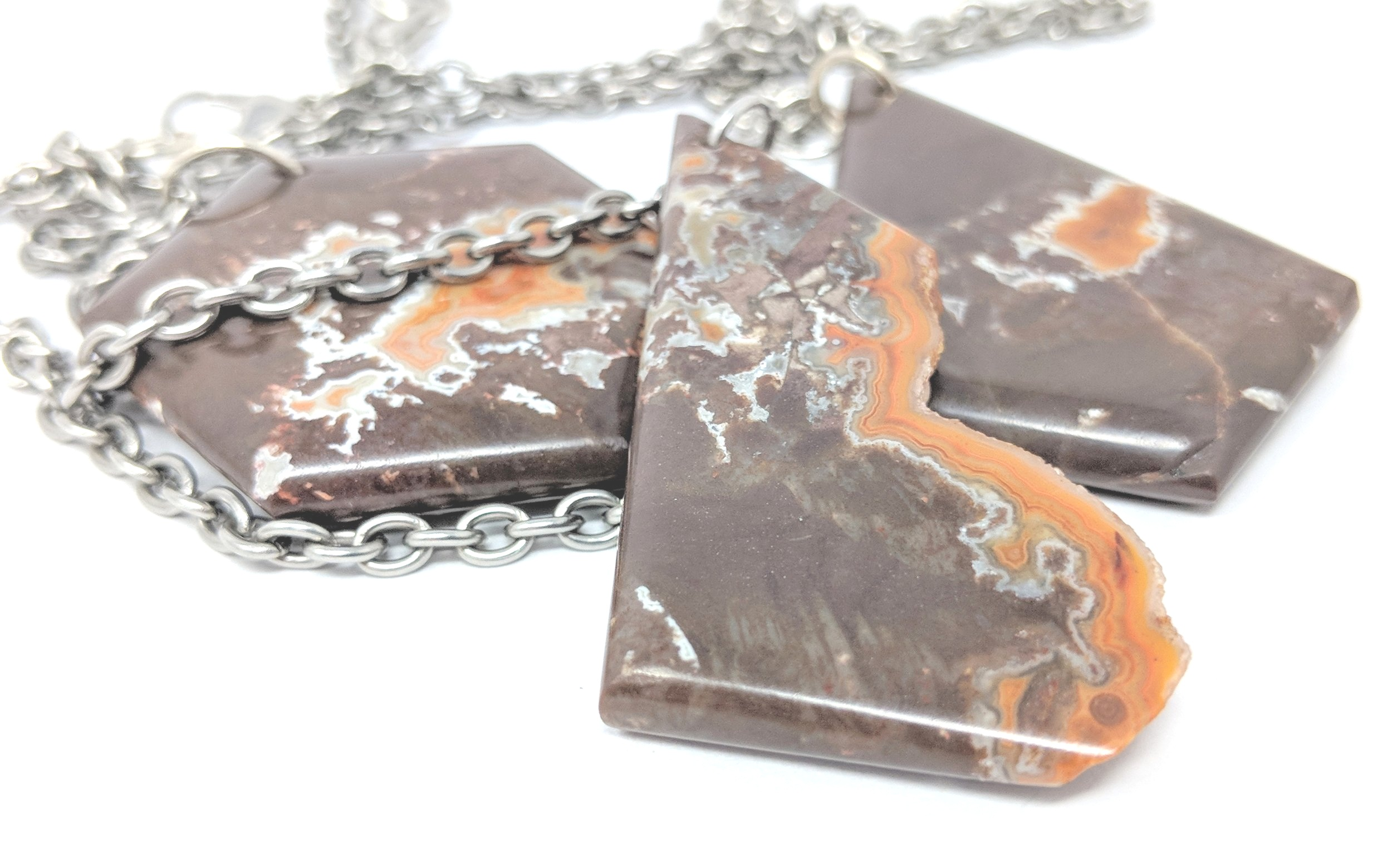 tee pee agate hand cut natural stone pendant set of 3_2.jpg