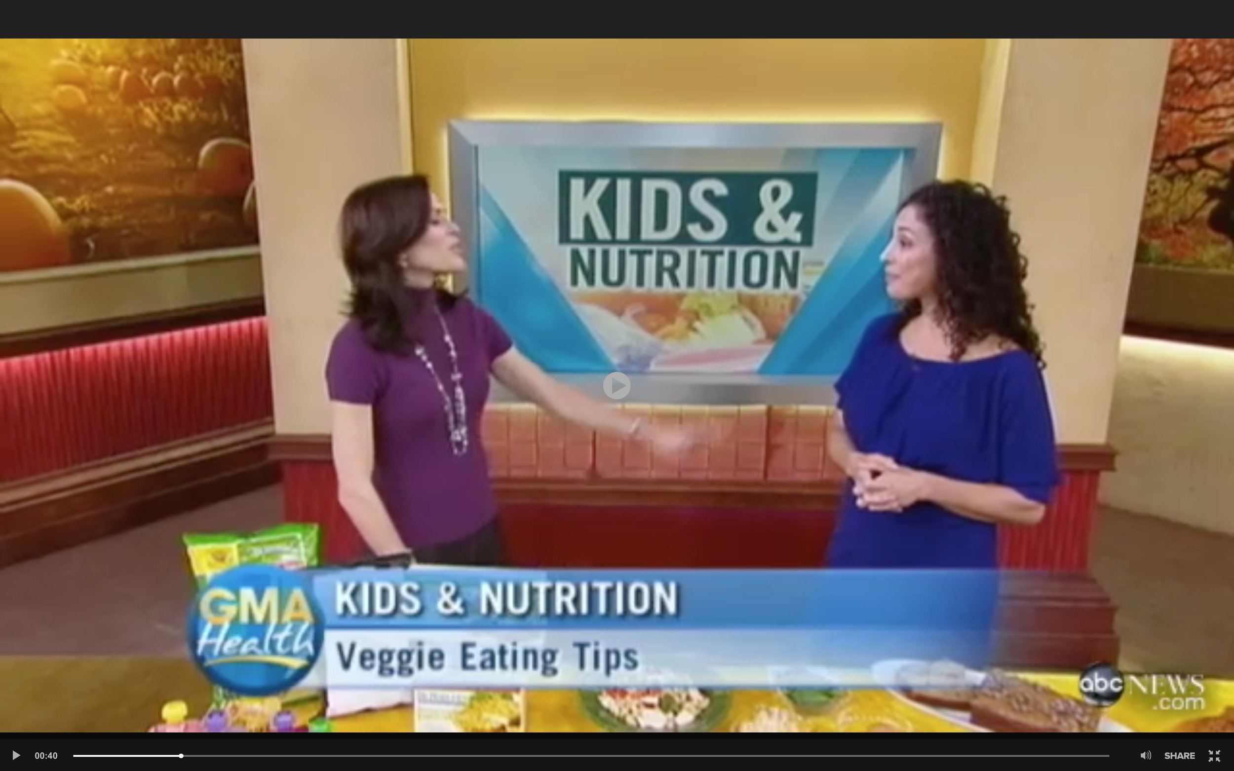 "Lisa Brown ""Getting Kids to Eat Their Veggies""  on Good Morning America…plus a delicious recipe for Zucchini Muffins/Bread! -"