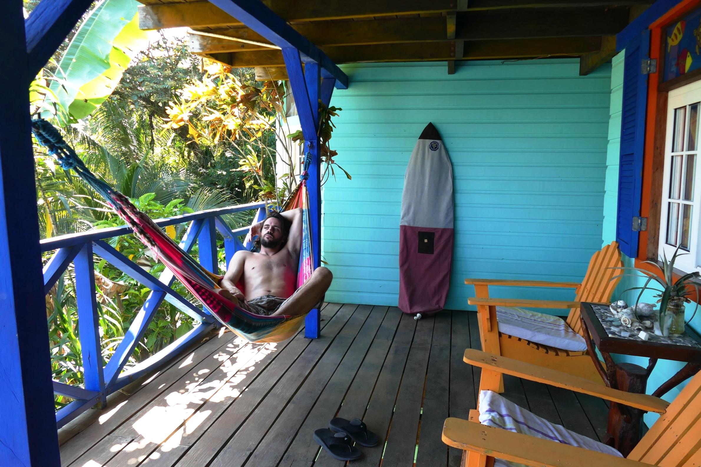 Hamac au Tesoro Escondido - Housse de surf  Roses des Vents