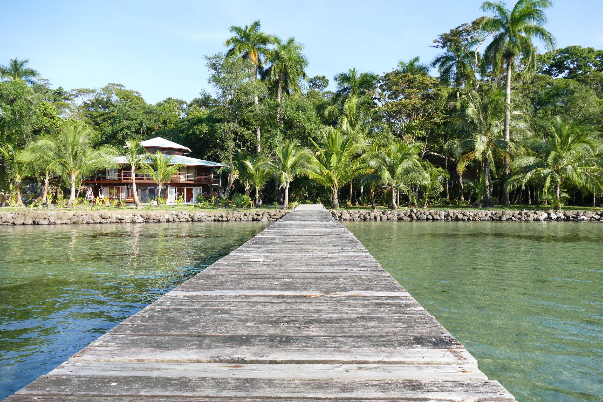 Arrivée à Casa del Mar, Carenero, Bocas del Toro