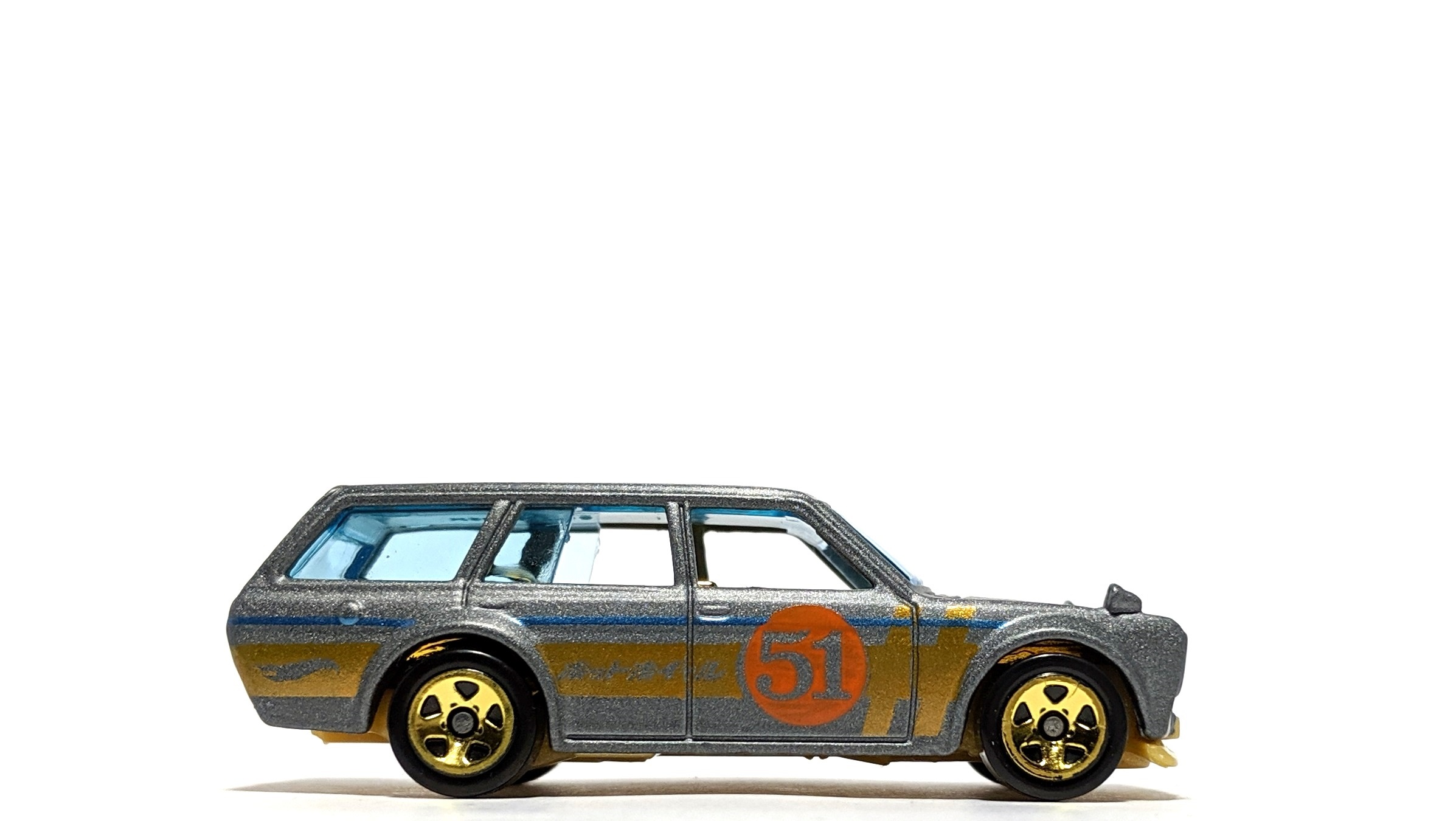 Datsun 510 Wagon - Hot Wheels (Satin & Chrome)