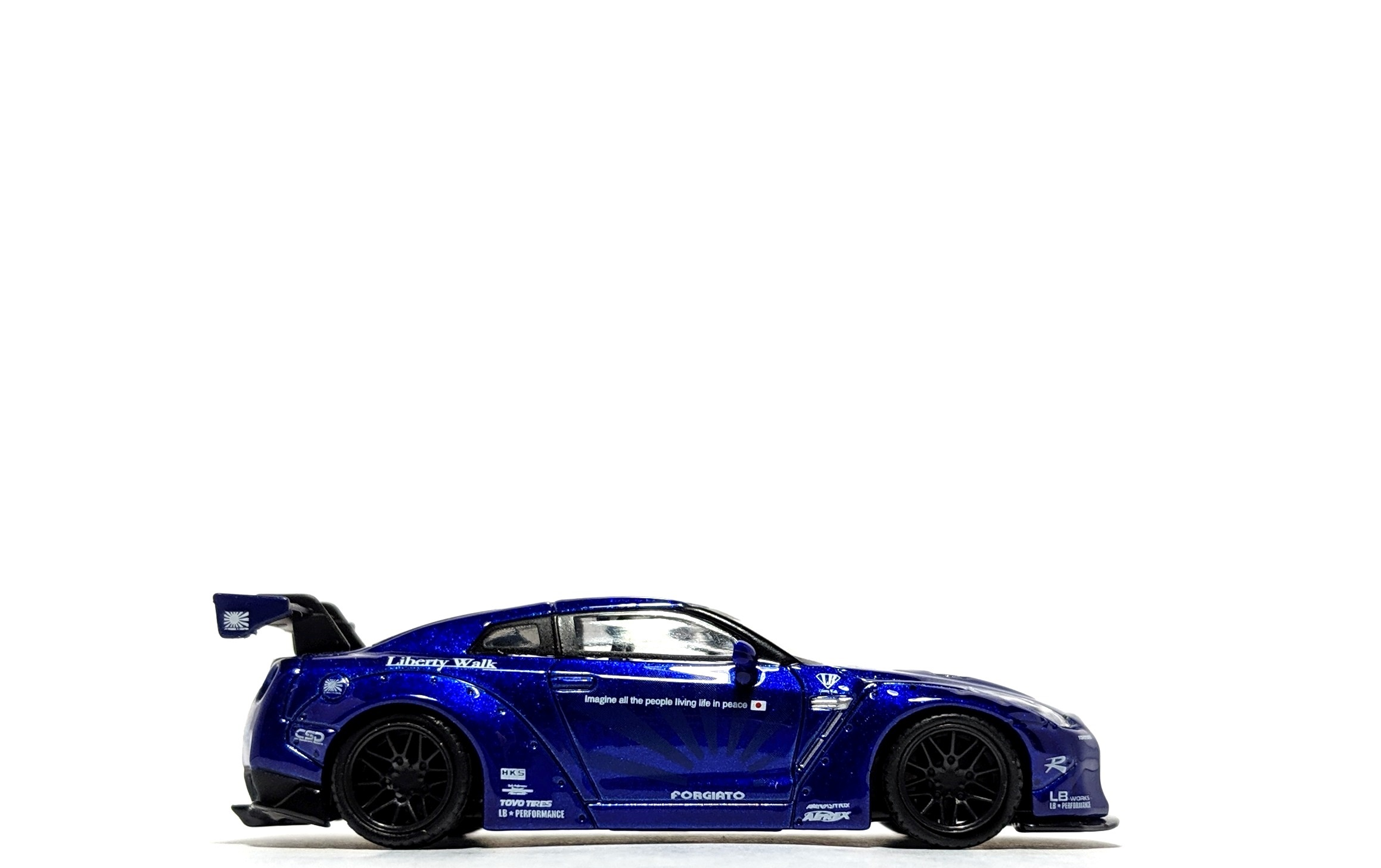 LB Works Nissan GT-R (R35) Candy Blue - TSM/Mini GT