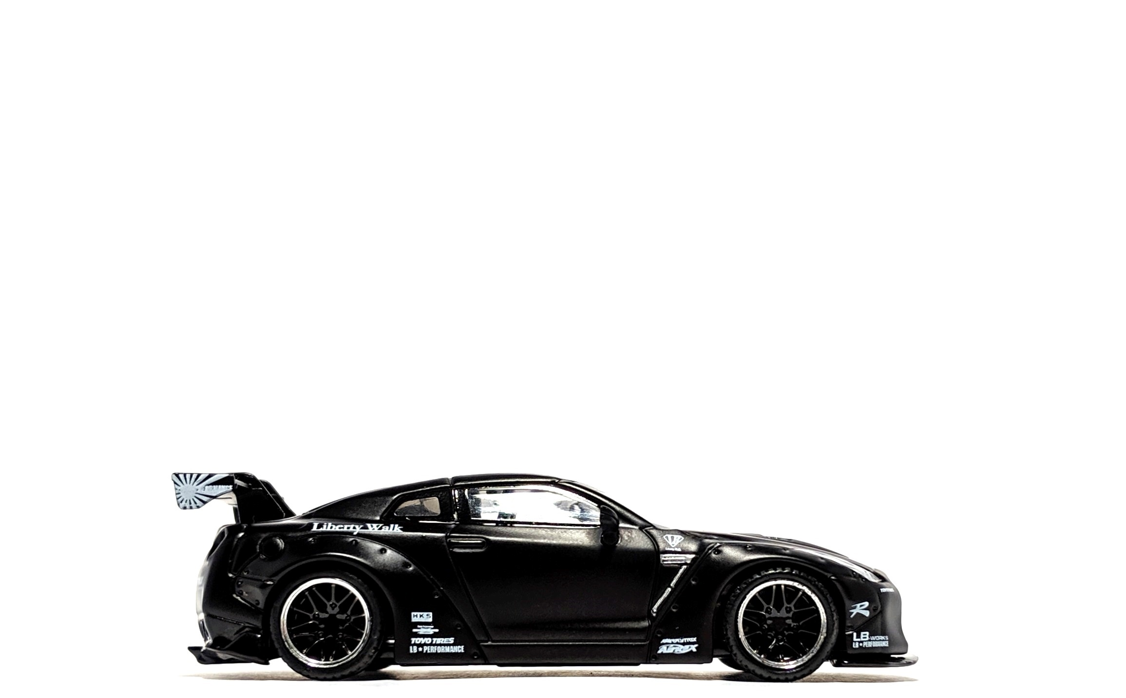 LB Works Nissan GT-R (R35) Matte Black - TSM/Mini GT