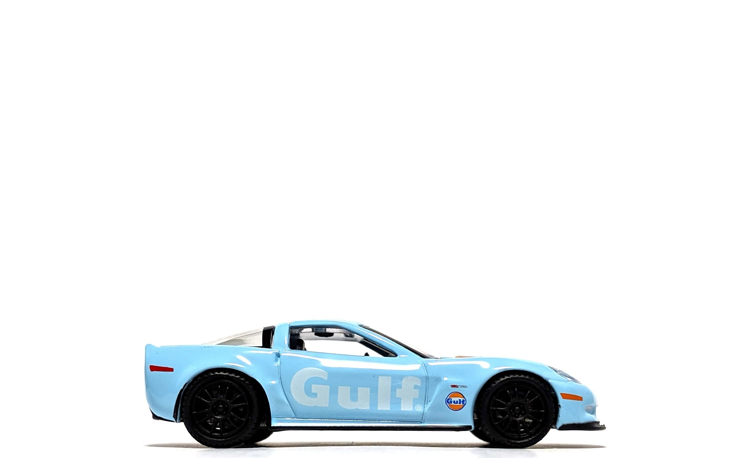 "2011 Chevrolet Corvette Z06 ""Gulf Oil"" Light Blue - Auto World"