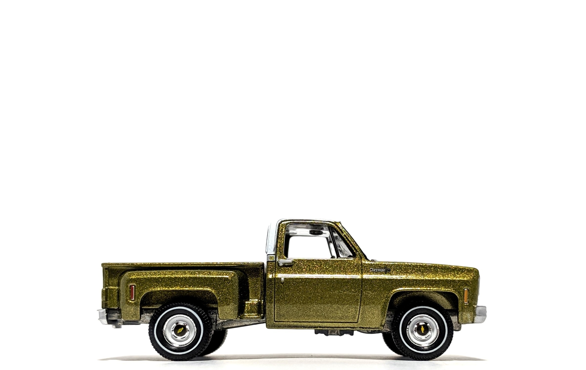 1973 Chevrolet Cheyenne Stepside Lime Green Metallic - Auto World
