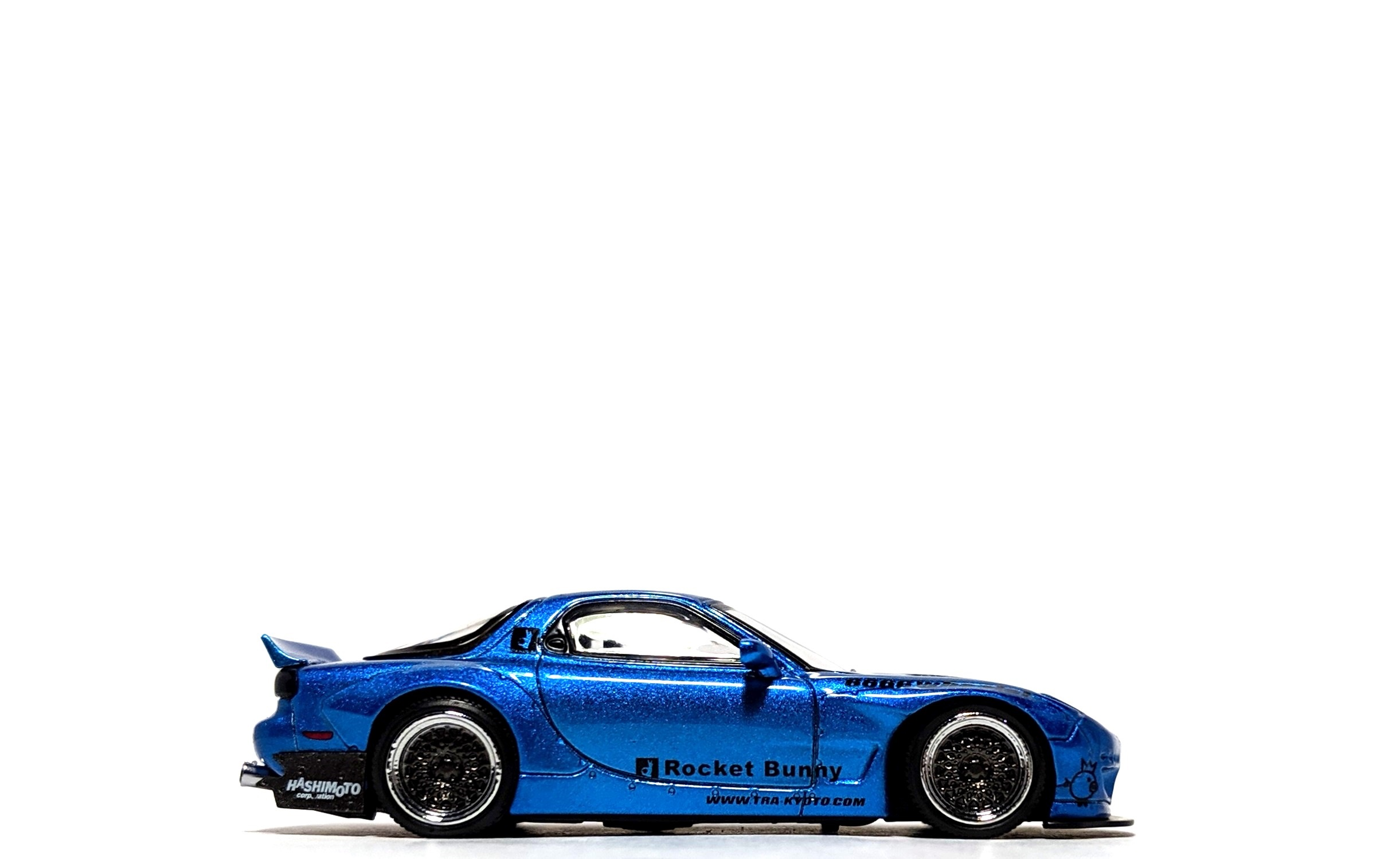 Rocket Bunny Mazda RX-7 (FD3S) Blue Metallic - Ignition Model