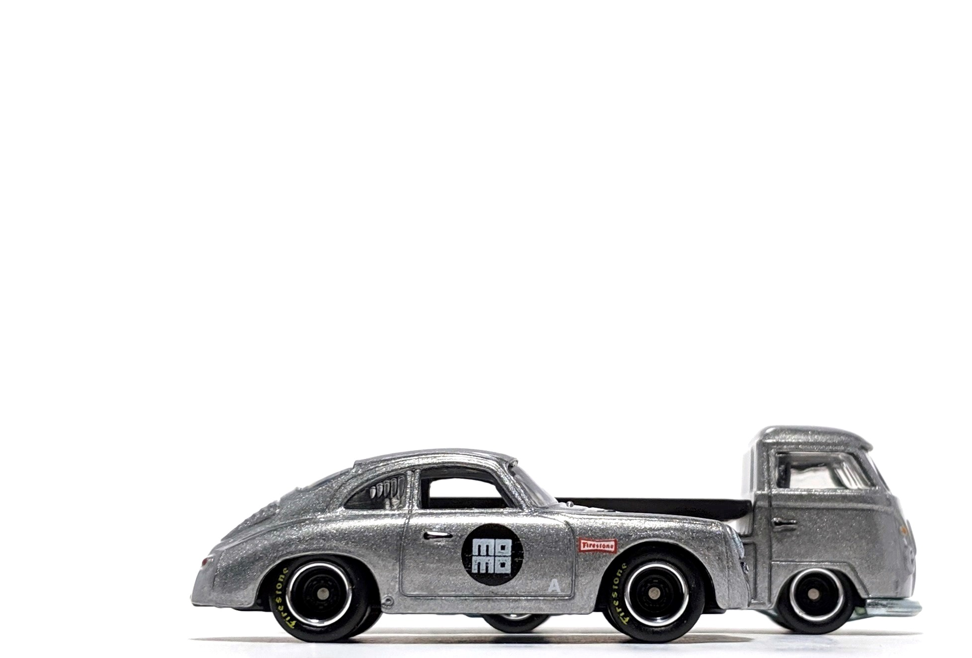 Porsche 356A Outlaw & Volkswagen Transporter T1 Pickup, by Hot Wheels (Car Culture: Team Transport)