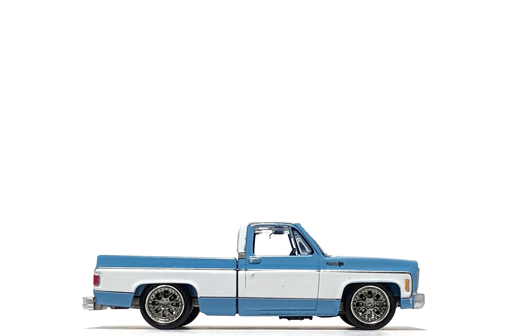 1973 Chevy Cheyenne Fleetside in Light Blue, by Auto World