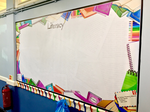 Literacy Corridor Display