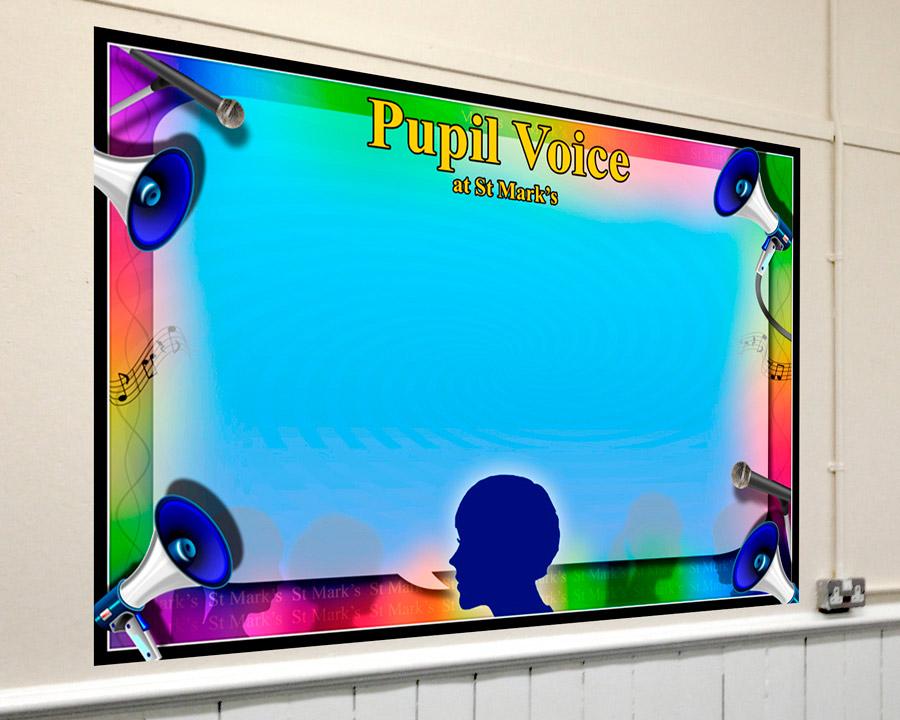 Pupil Voice Corridor Display