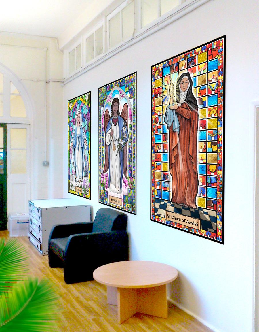 Primary school art project - The Saints