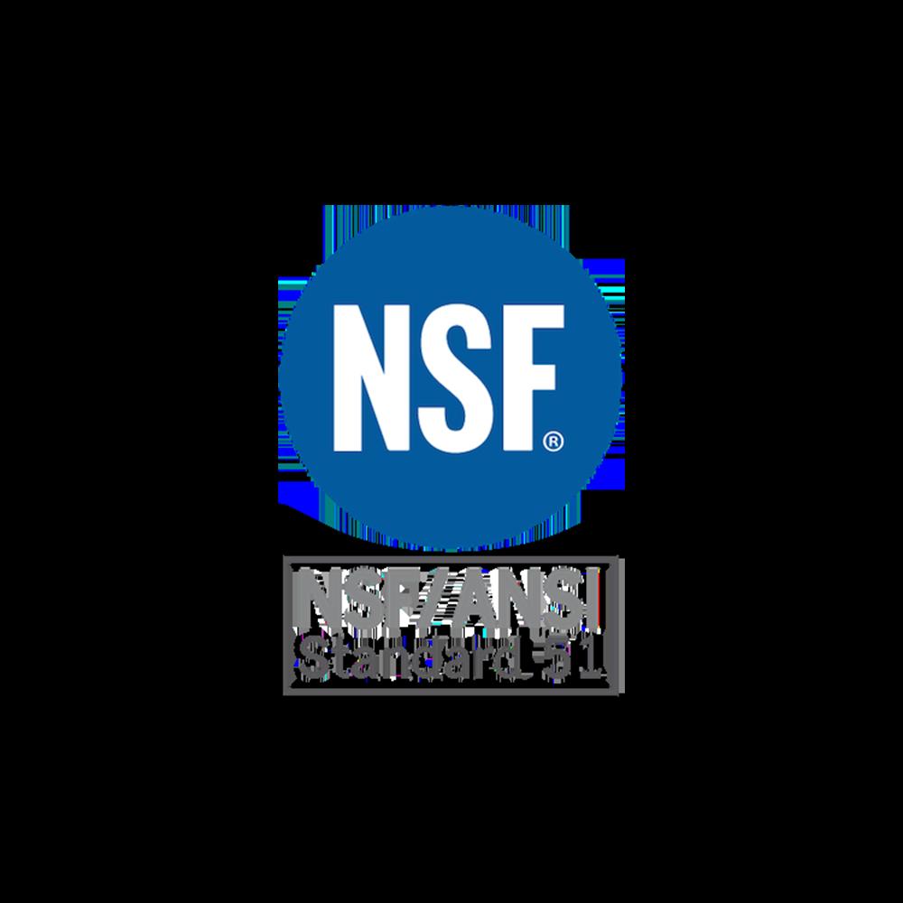 NSF/ANSI 51 Certified -
