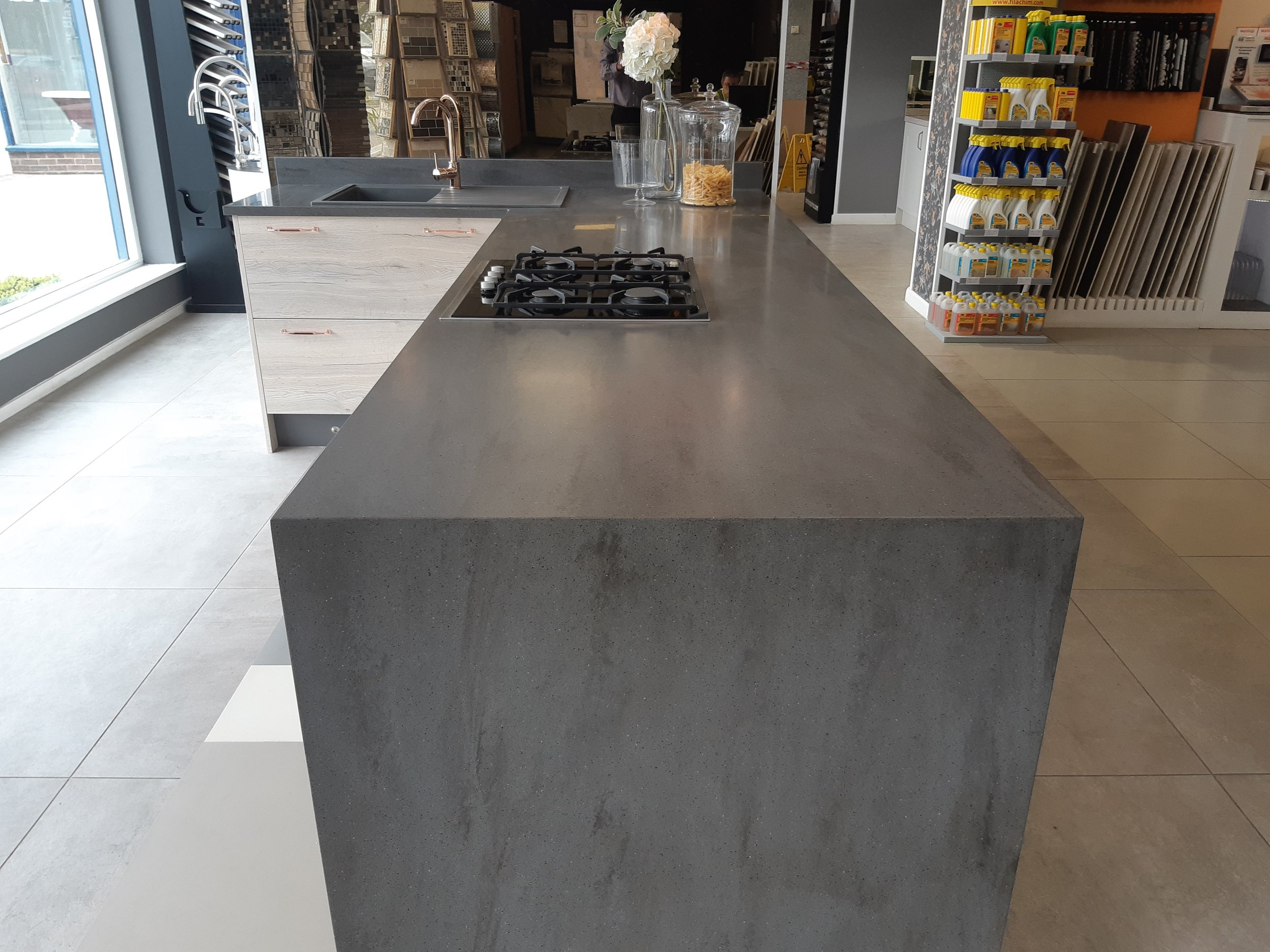 Hygienic - Tristone's non-porous acrylic surface has countless benefits; with its ability to join seamlessly it can fend off mildew, bacteria and other harmful germs and is stain resistant. As Tristone can be joined seamlessly it is the perfect worktop option for clinical environments.